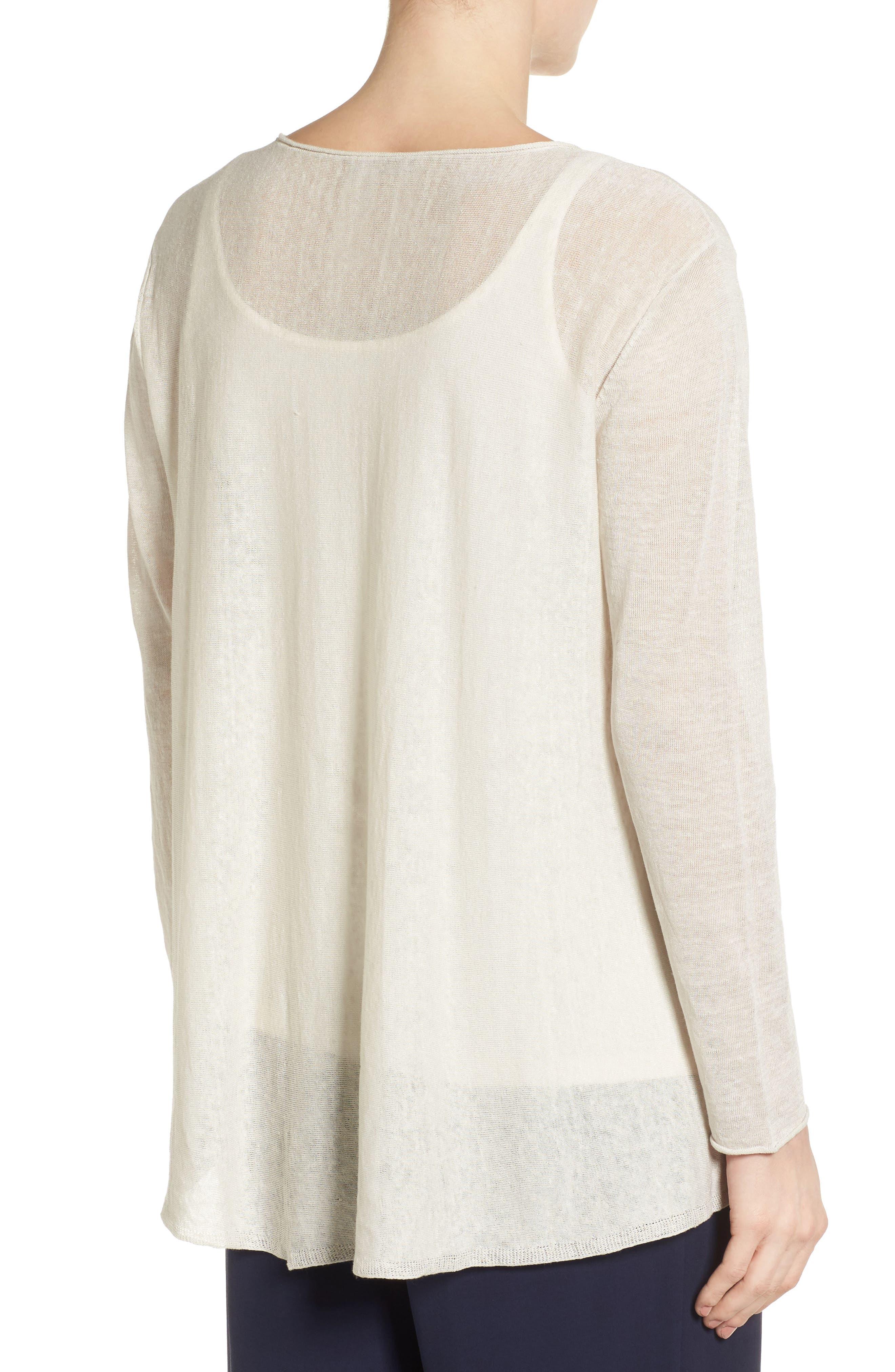 Organic Linen Blend Swing Sweater,                             Alternate thumbnail 15, color,