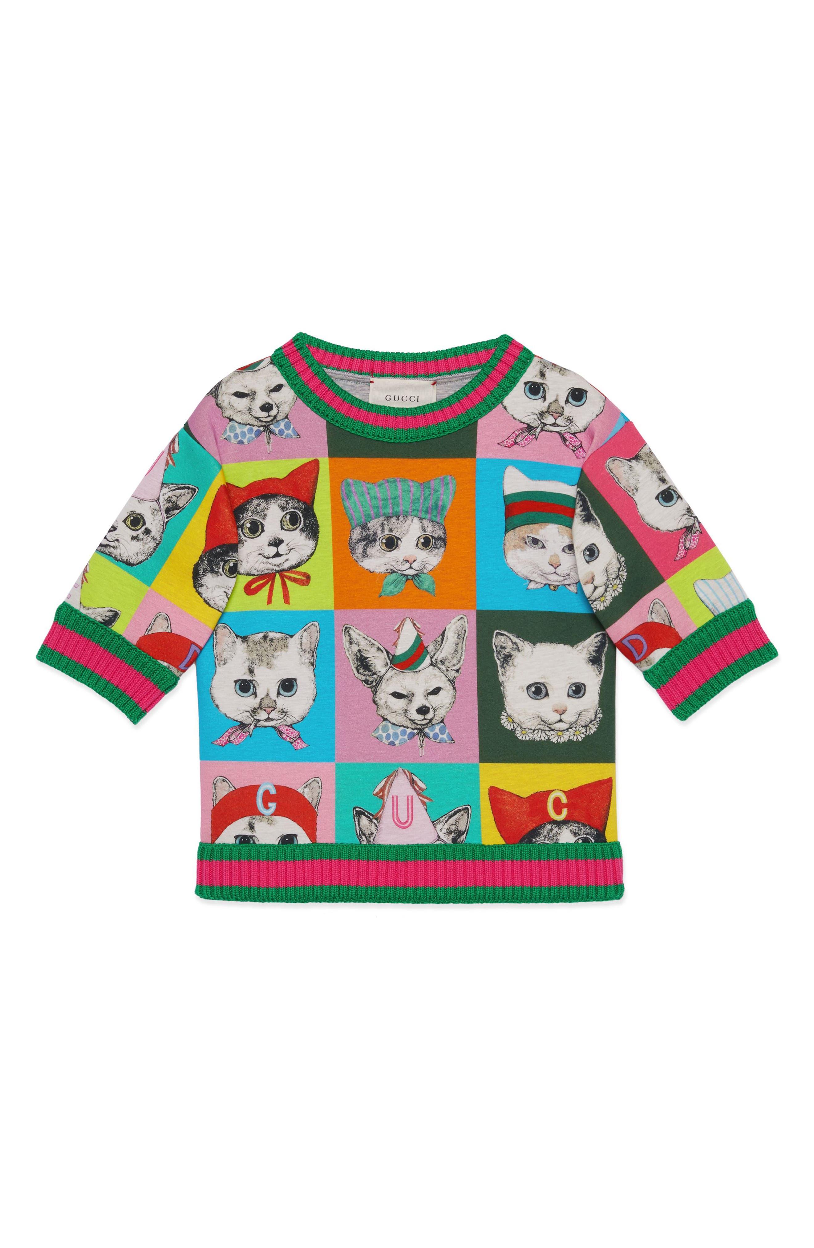 Graphic Sweatshirt,                         Main,                         color, PINK PRINT