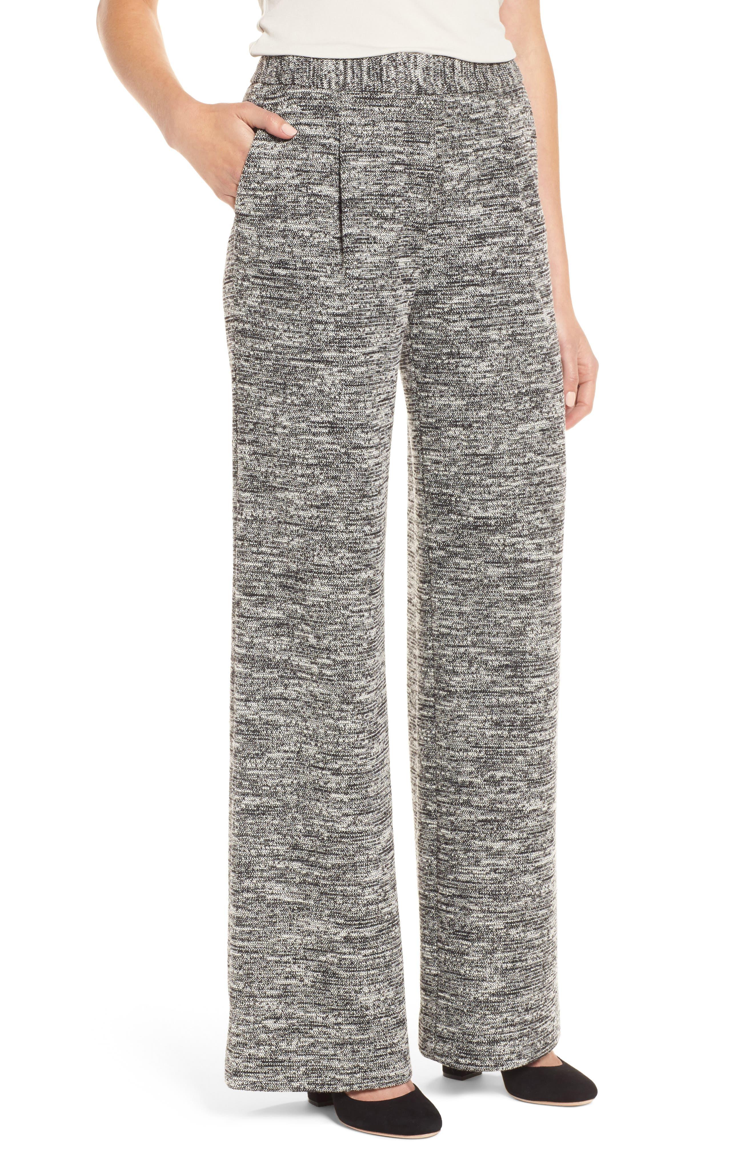Wide Leg Tweed Pants,                         Main,                         color,