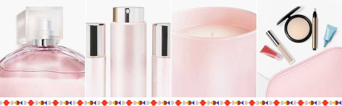 Women's perfume, gift sets and candles and diffusers.