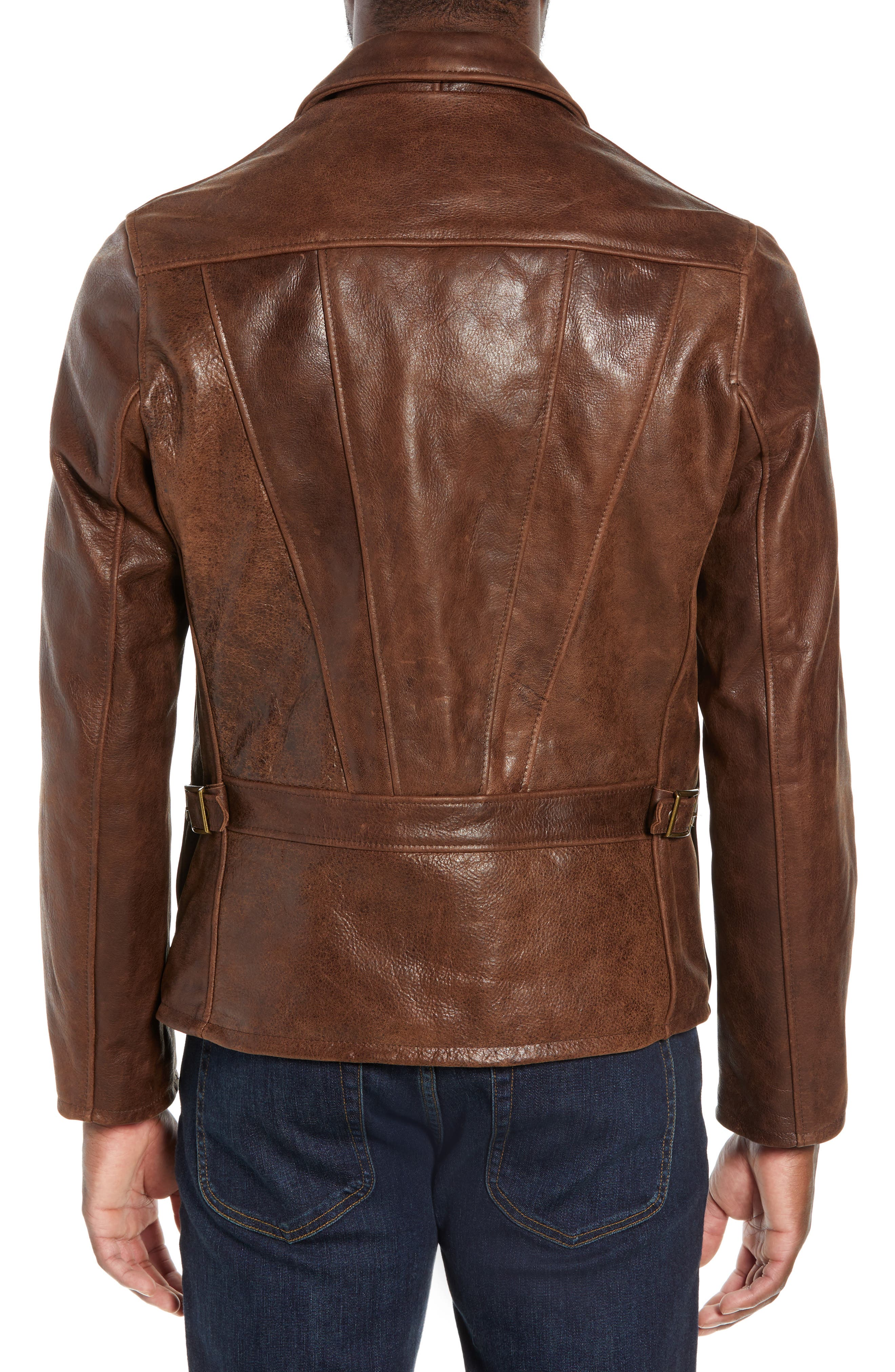 Waxy Naked Buffalo Leather Delivery Jacket,                             Alternate thumbnail 2, color,                             200