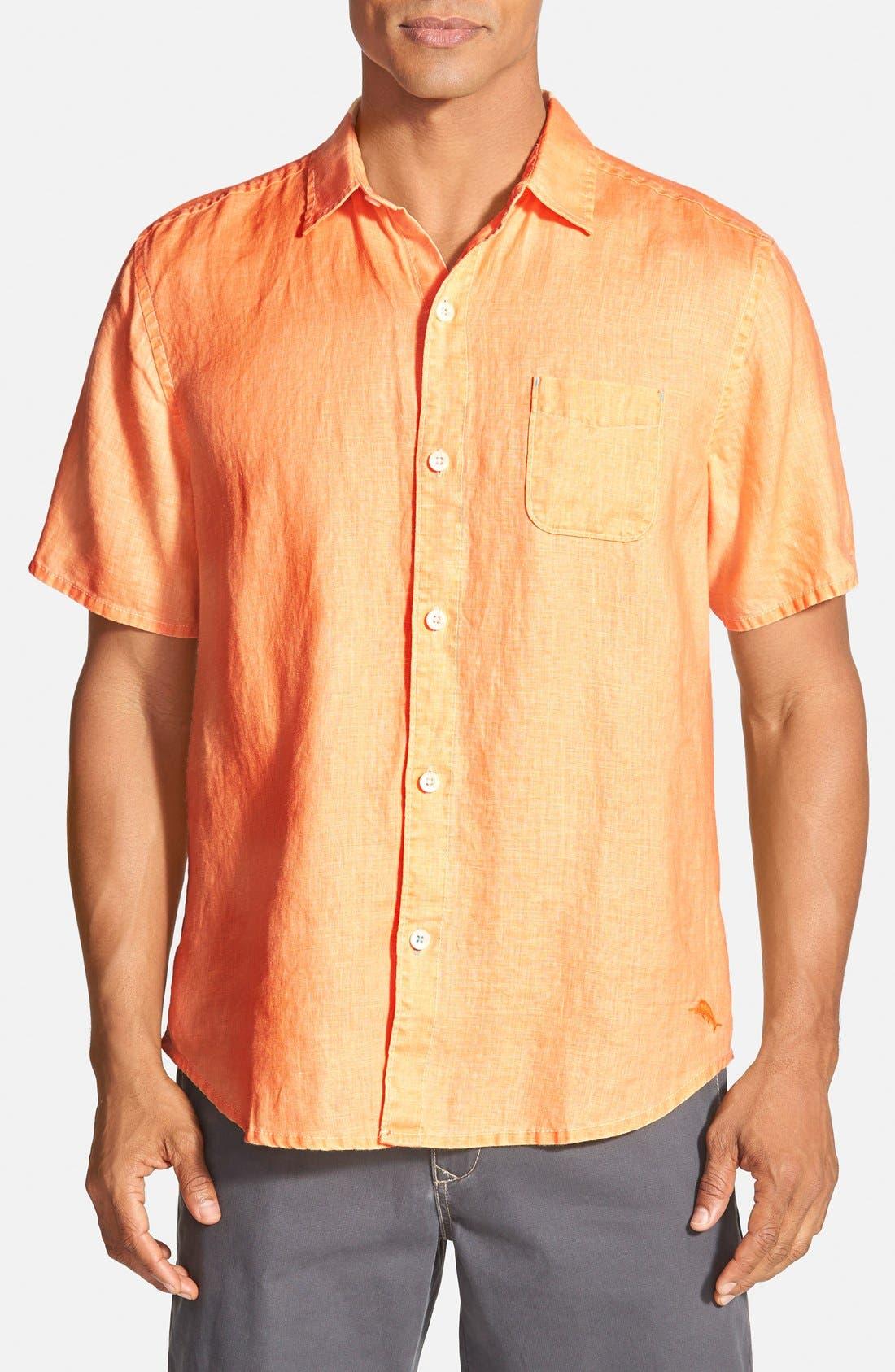 Seaglass Breezer Short Sleeve Linen Sport Shirt,                             Main thumbnail 21, color,