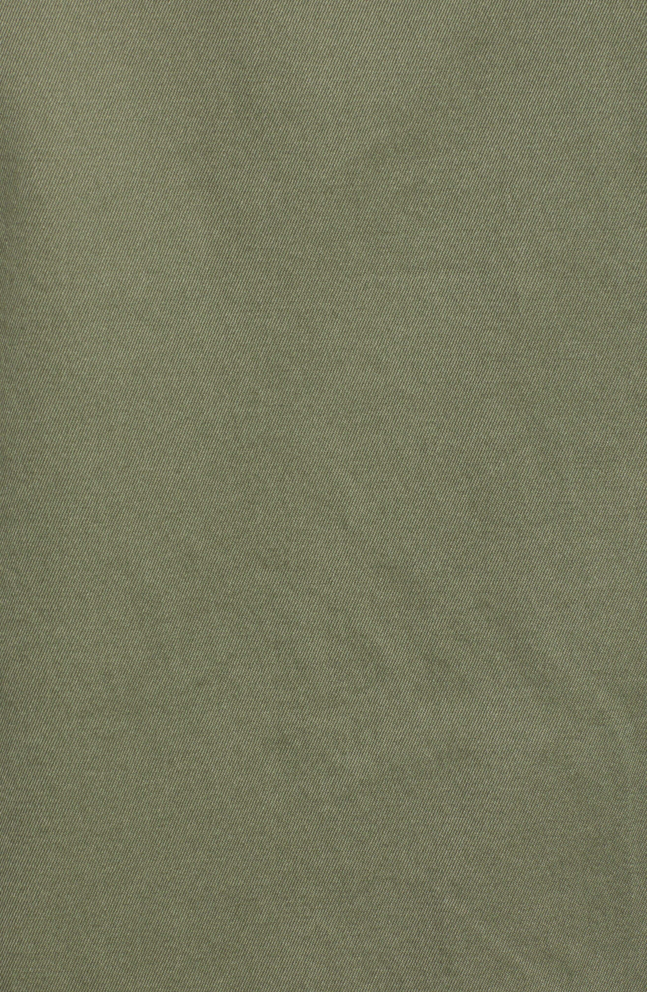 Regular Fit Military Shirt Jacket,                             Alternate thumbnail 6, color,                             SURPLUS OLIVE