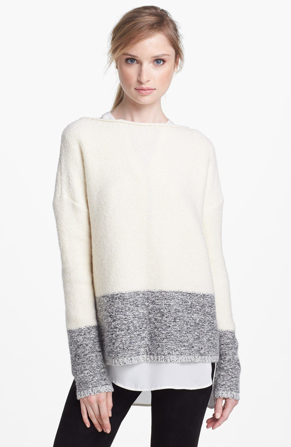 'Square' Boatneck Sweater, Main, color, 250