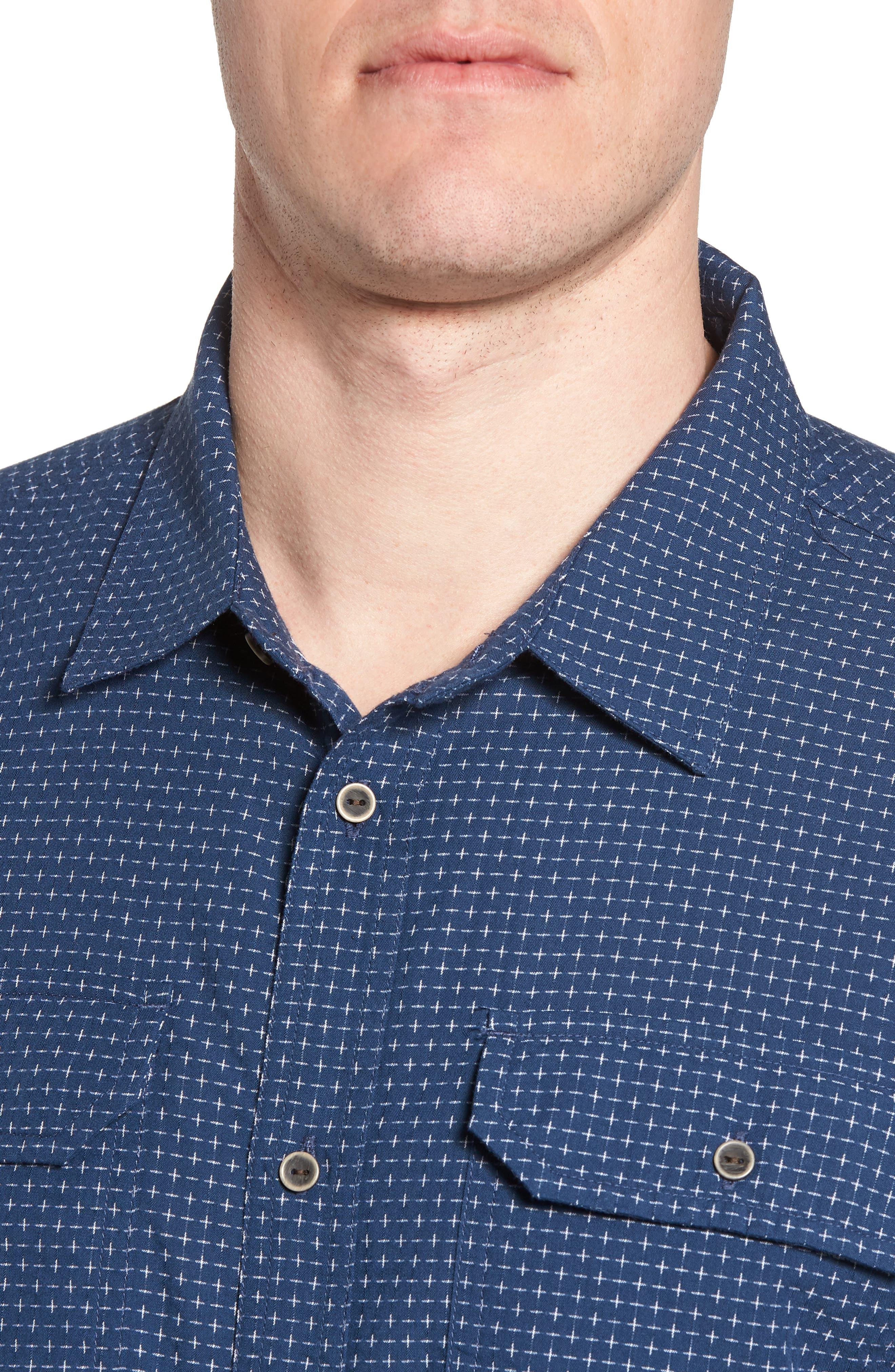 Blakely Slim Fit Short Sleeve Sport Shirt,                             Alternate thumbnail 8, color,