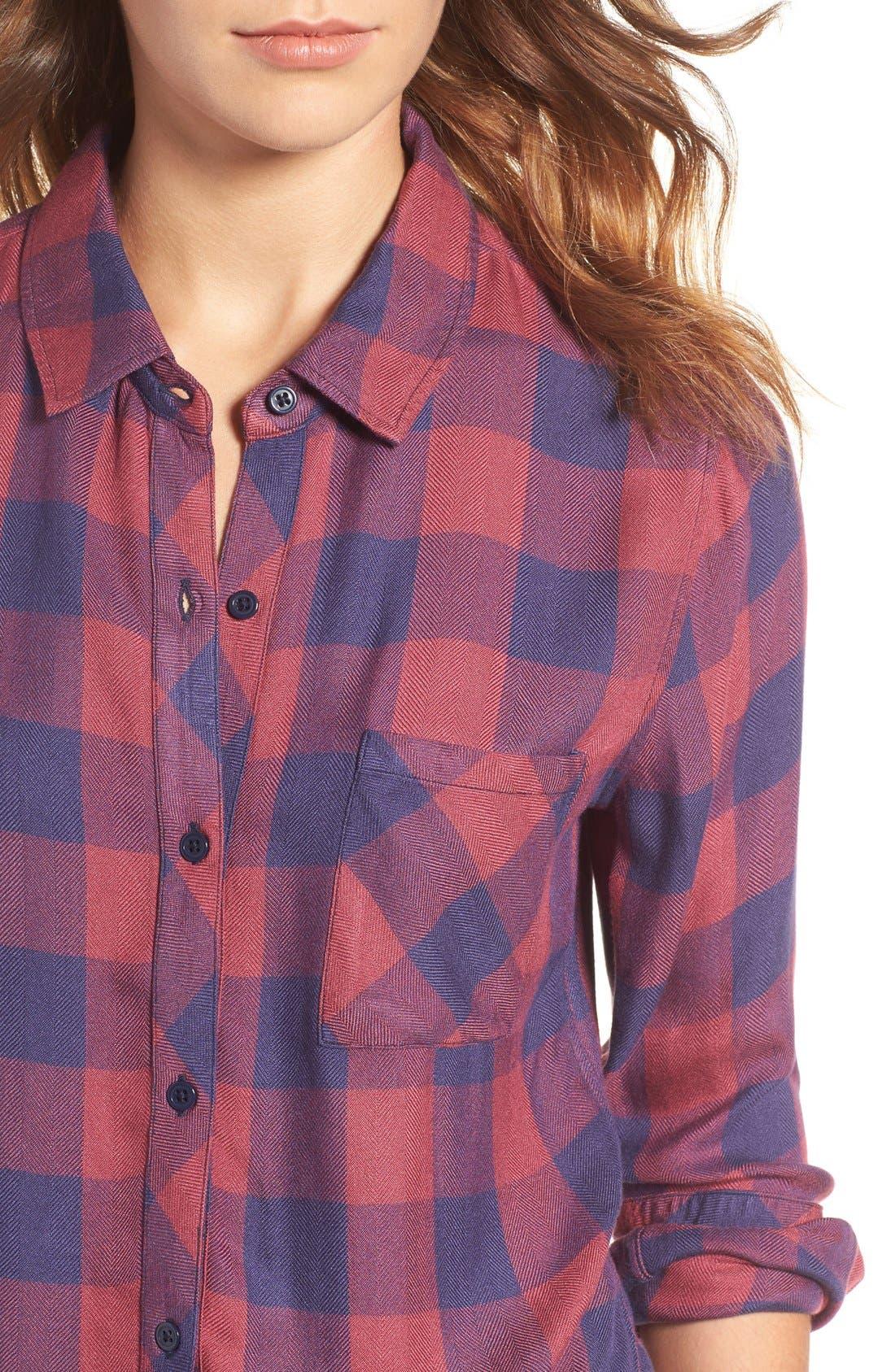 Hunter Plaid Shirt,                             Alternate thumbnail 545, color,