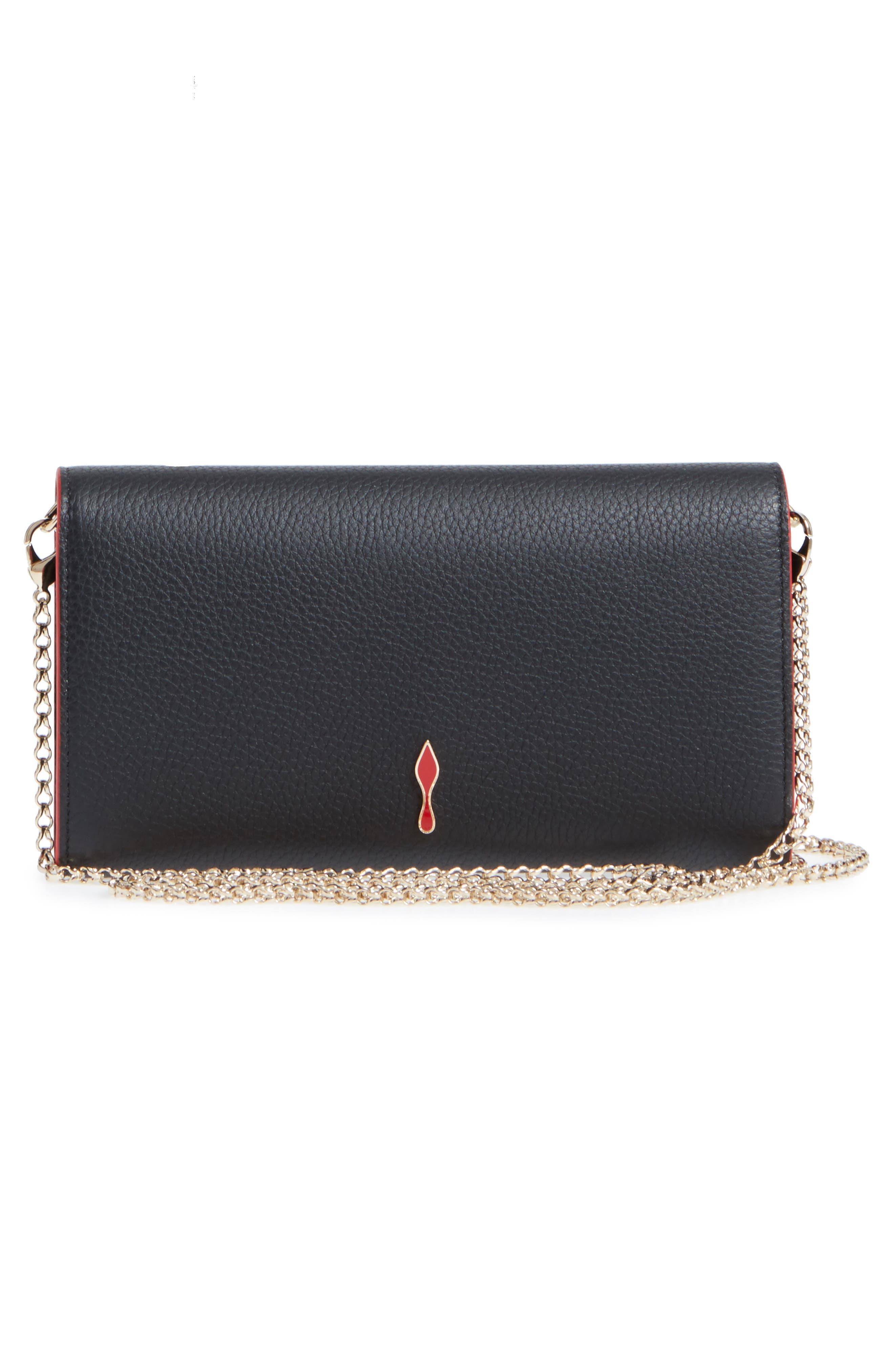 Boudoir Calfskin Leather Wallet,                             Alternate thumbnail 3, color,                             BLACK/ GOLD