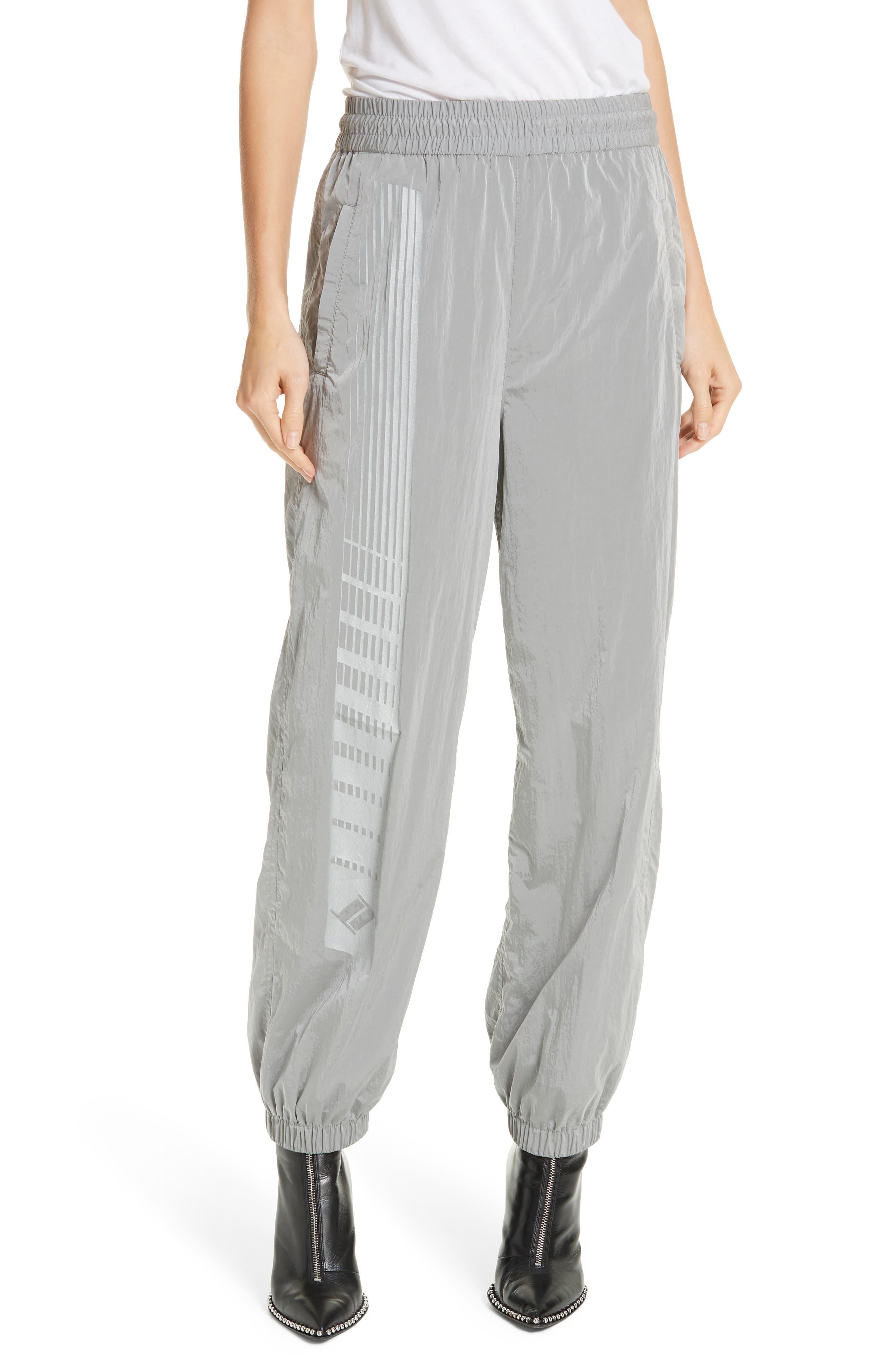 Reflective Track Pants, Main, color, SILVER