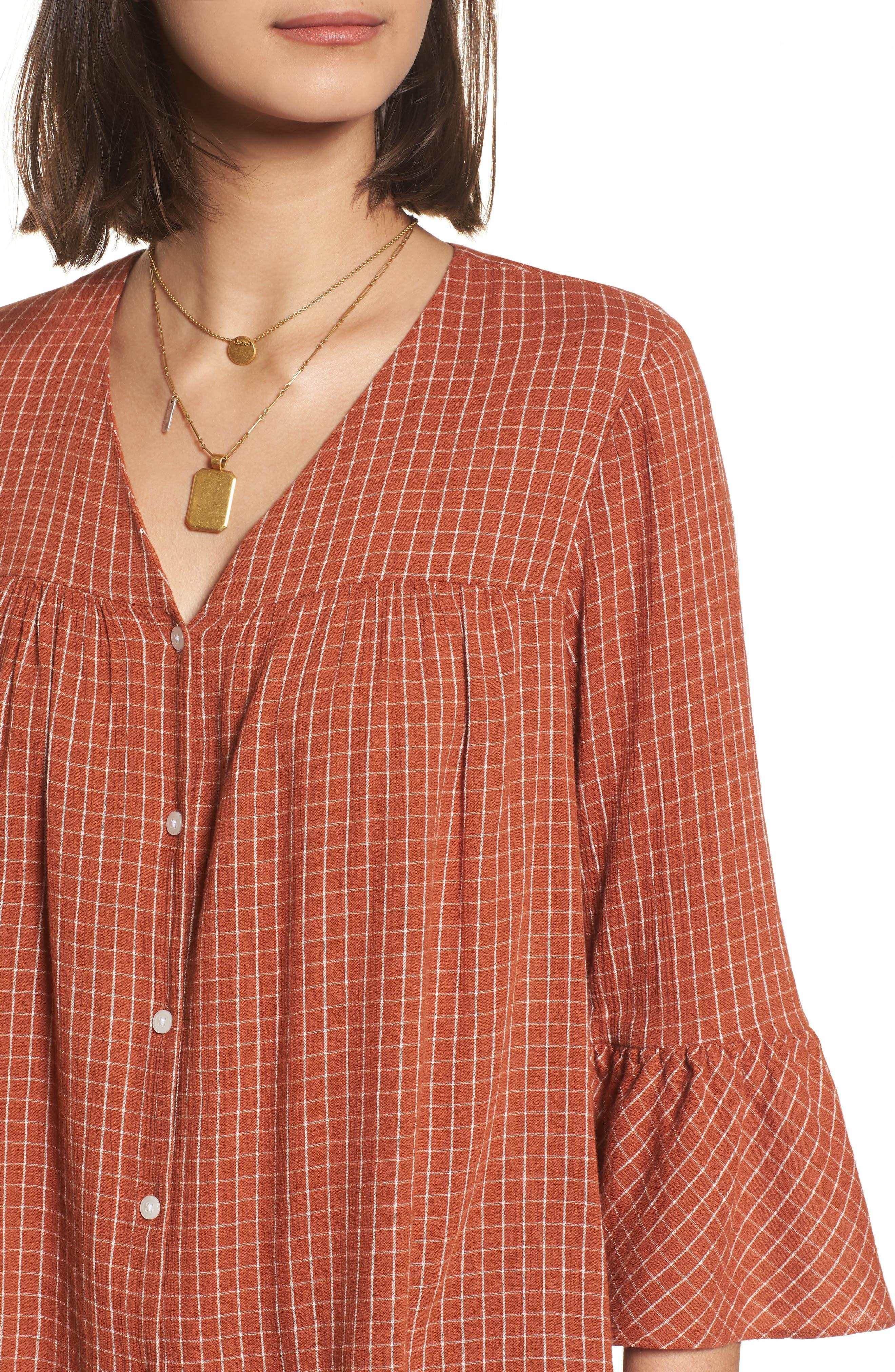 Veranda Bell Sleeve Shirt,                             Alternate thumbnail 4, color,                             800