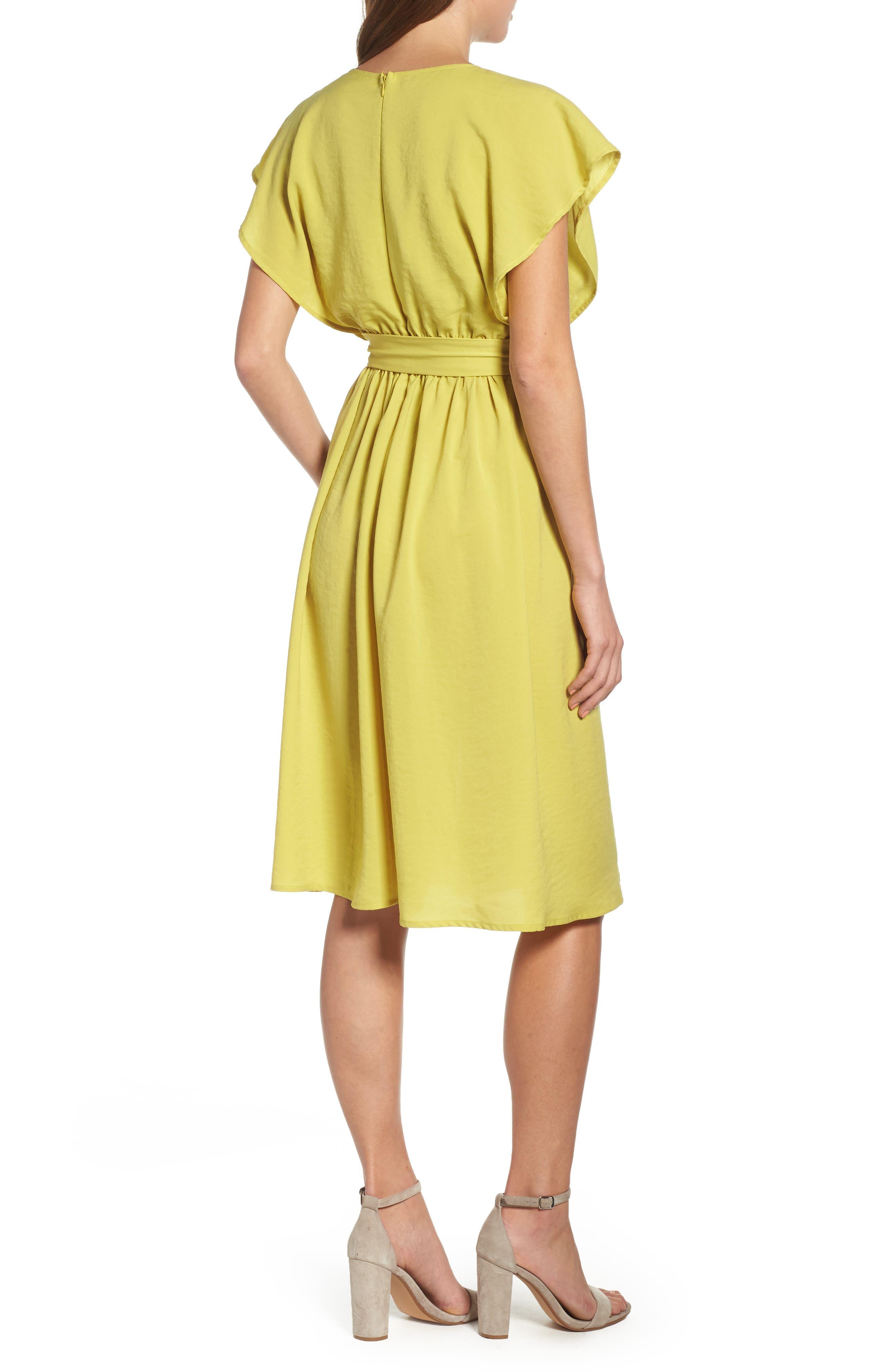 Wrap Midi Dress,                             Alternate thumbnail 2, color,