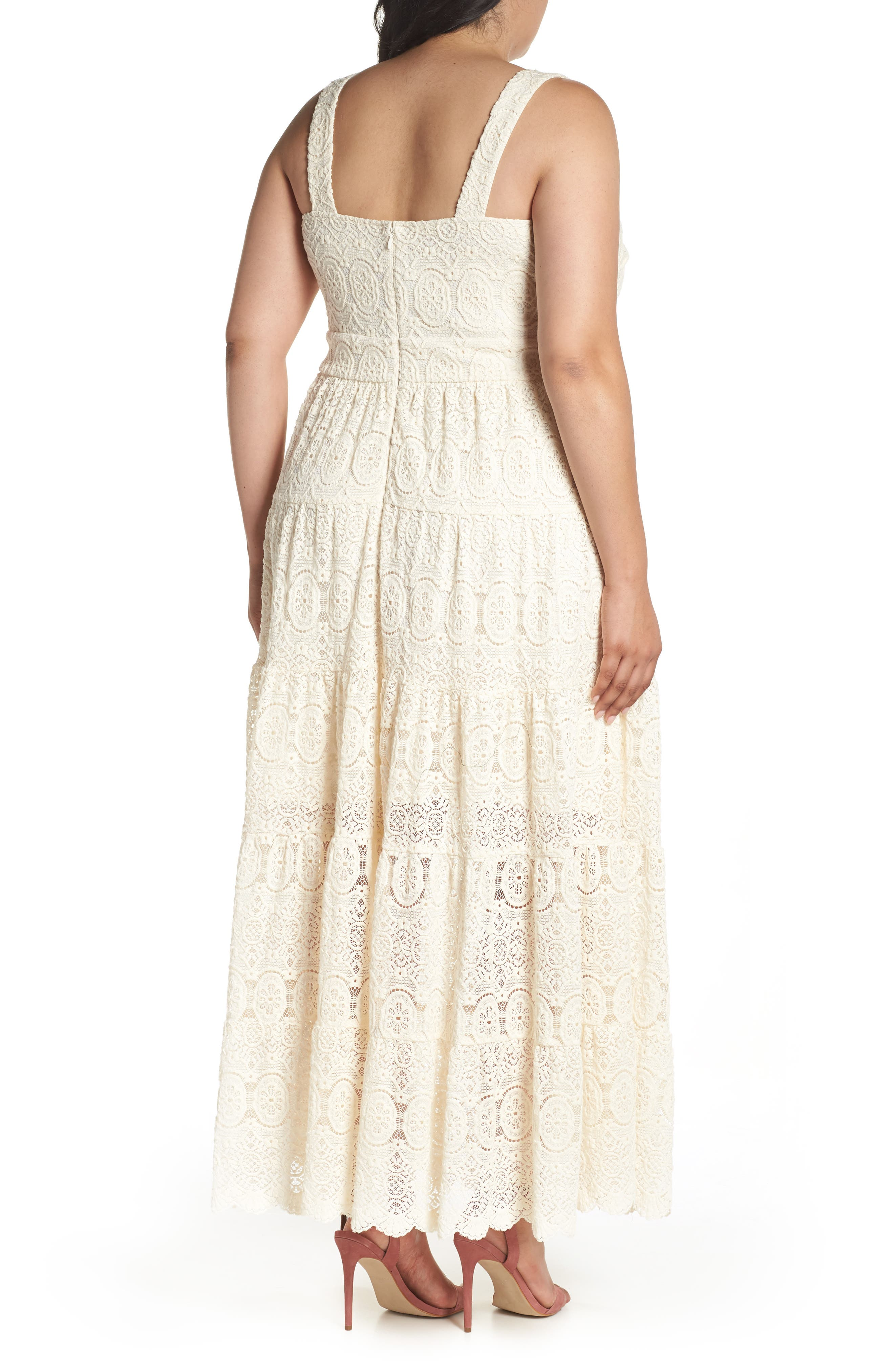 Tiered Lace Maxi Dress,                             Alternate thumbnail 2, color,