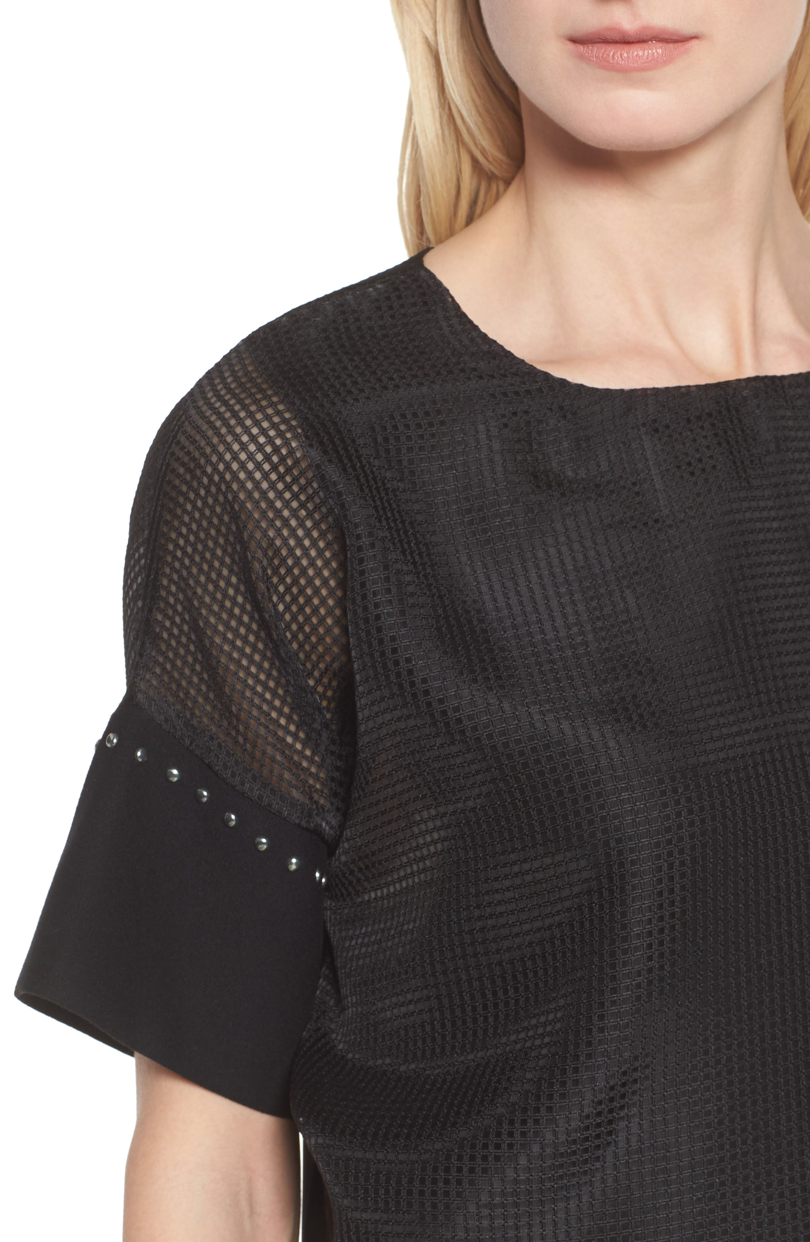Mesh Layered Top,                             Alternate thumbnail 4, color,                             001