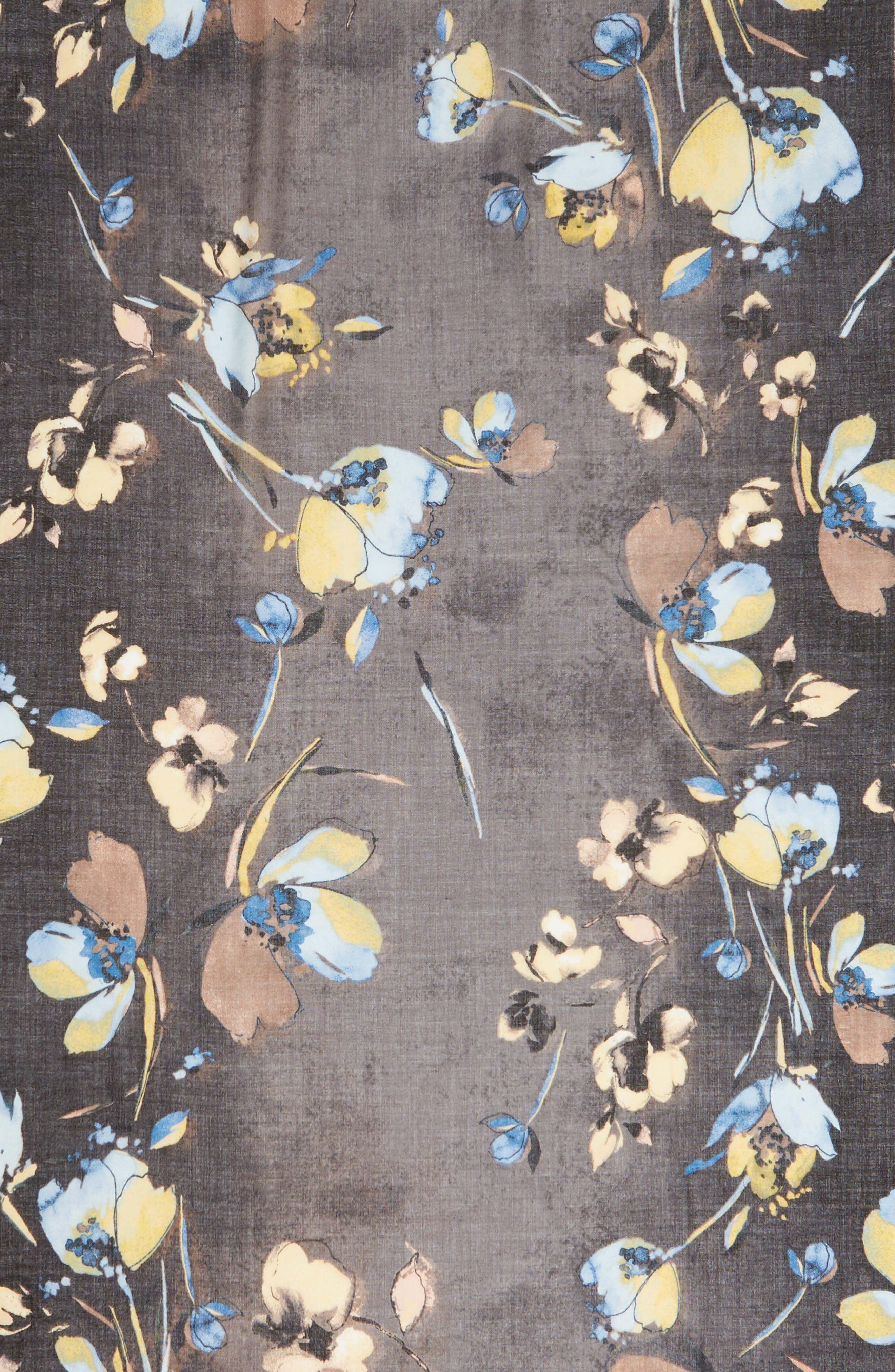 Eyelash Trim Print Cashmere & Silk Wrap,                             Alternate thumbnail 103, color,