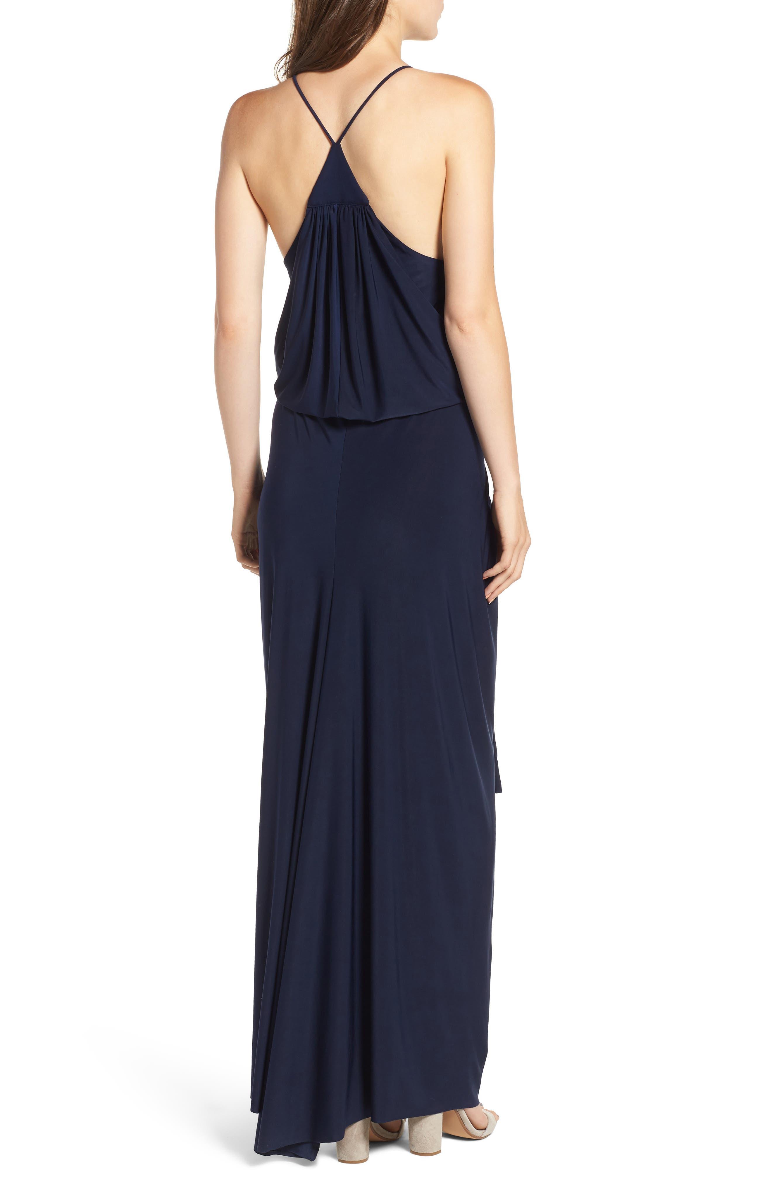Domino Knot Maxi Dress,                             Alternate thumbnail 2, color,                             MIDNIGHT