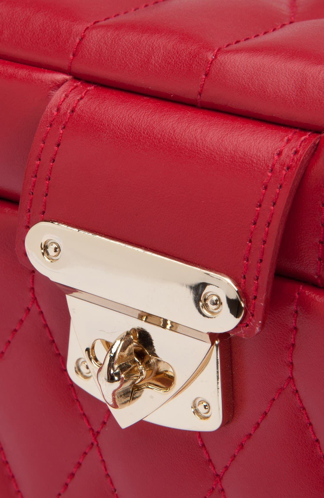 'Caroline' Jewelry Case,                             Alternate thumbnail 4, color,                             RED