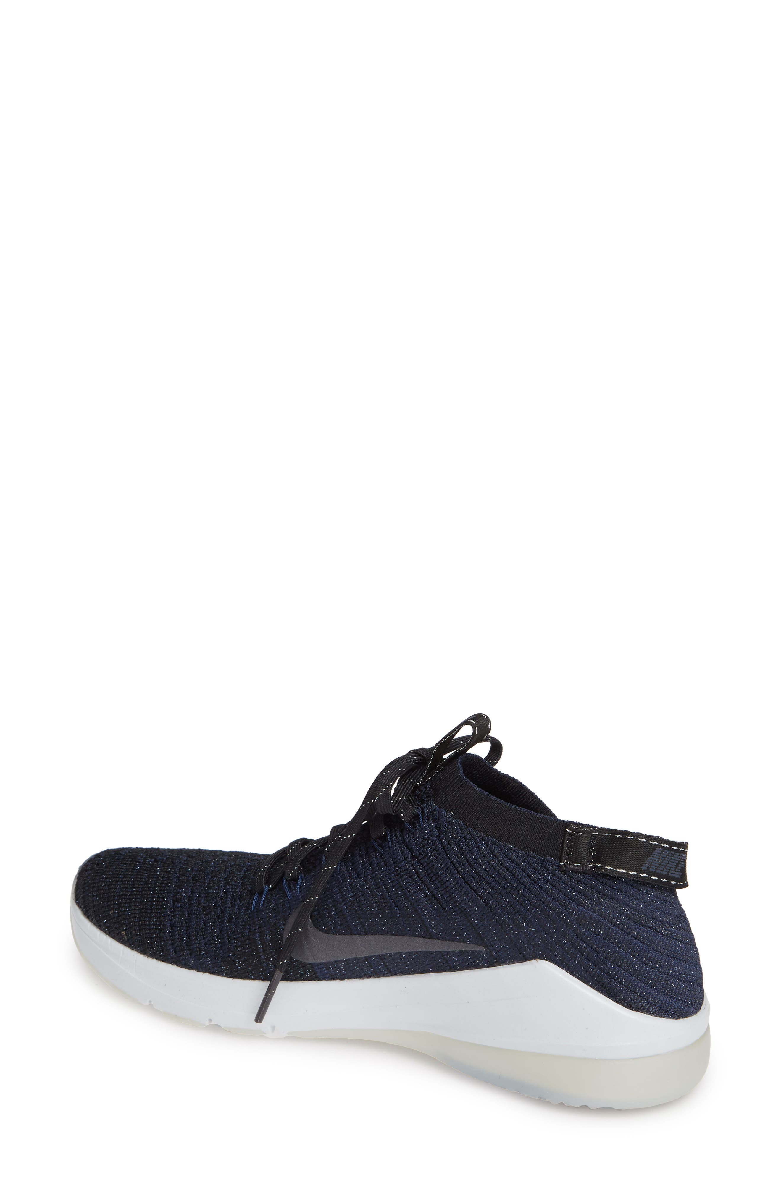 Air Zoom Fearless Flyknit 2 Training Sneaker,                             Alternate thumbnail 2, color,                             BLACK/ METALLIC NAVY- NAVY