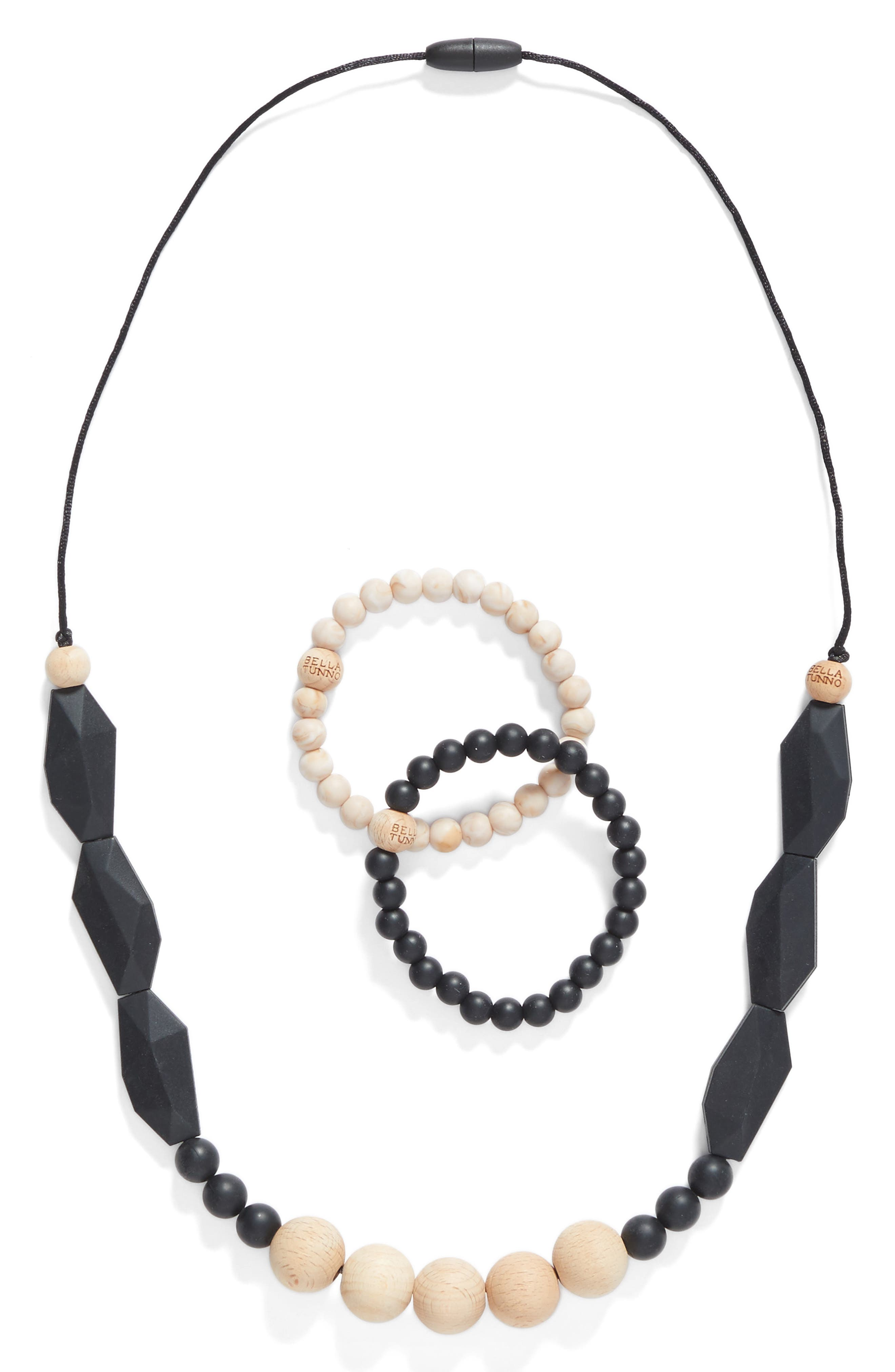 3-Piece Teething Necklace & Bracelet Set,                         Main,                         color,