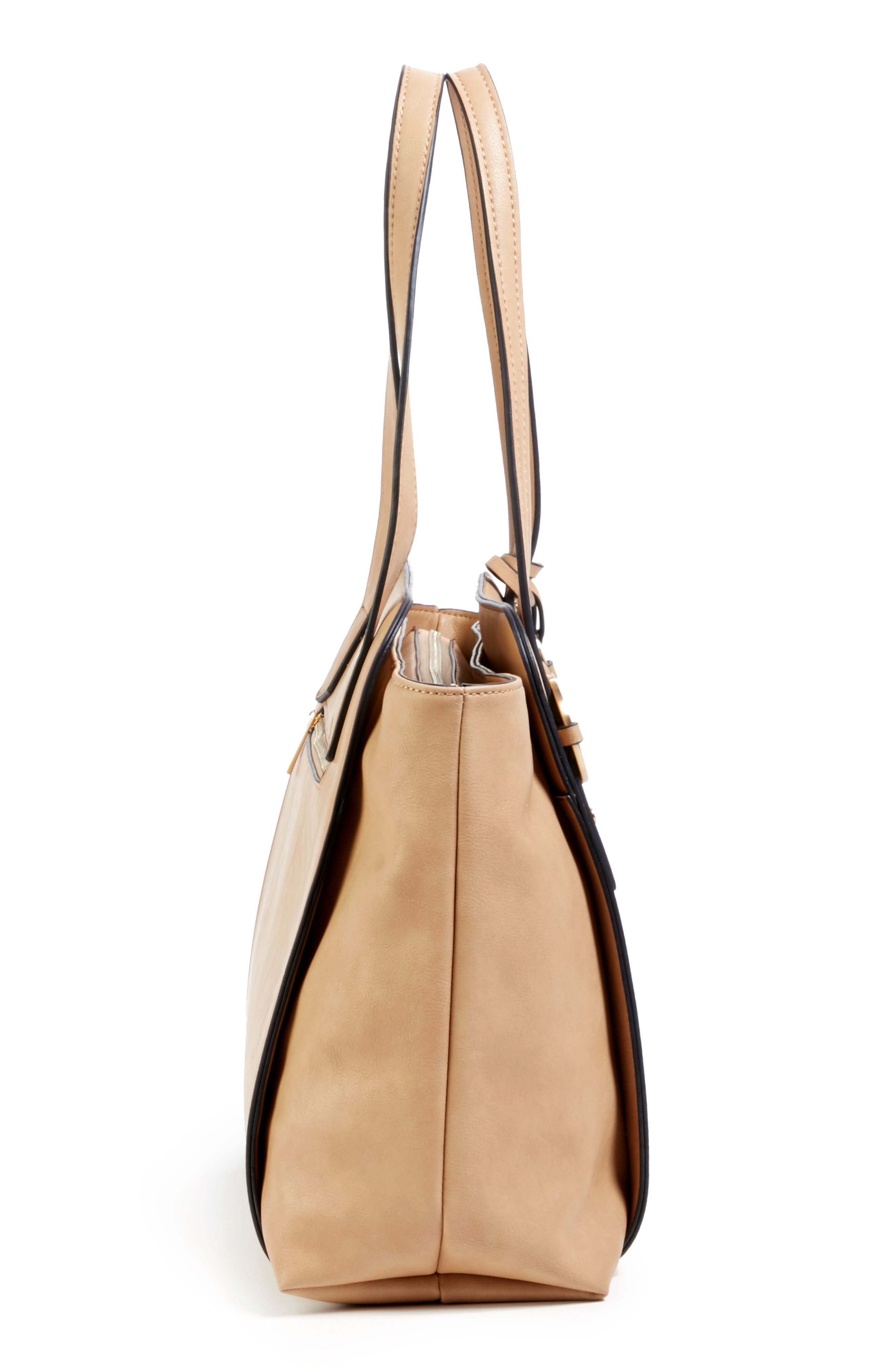 Faux Leather Tote,                             Alternate thumbnail 8, color,