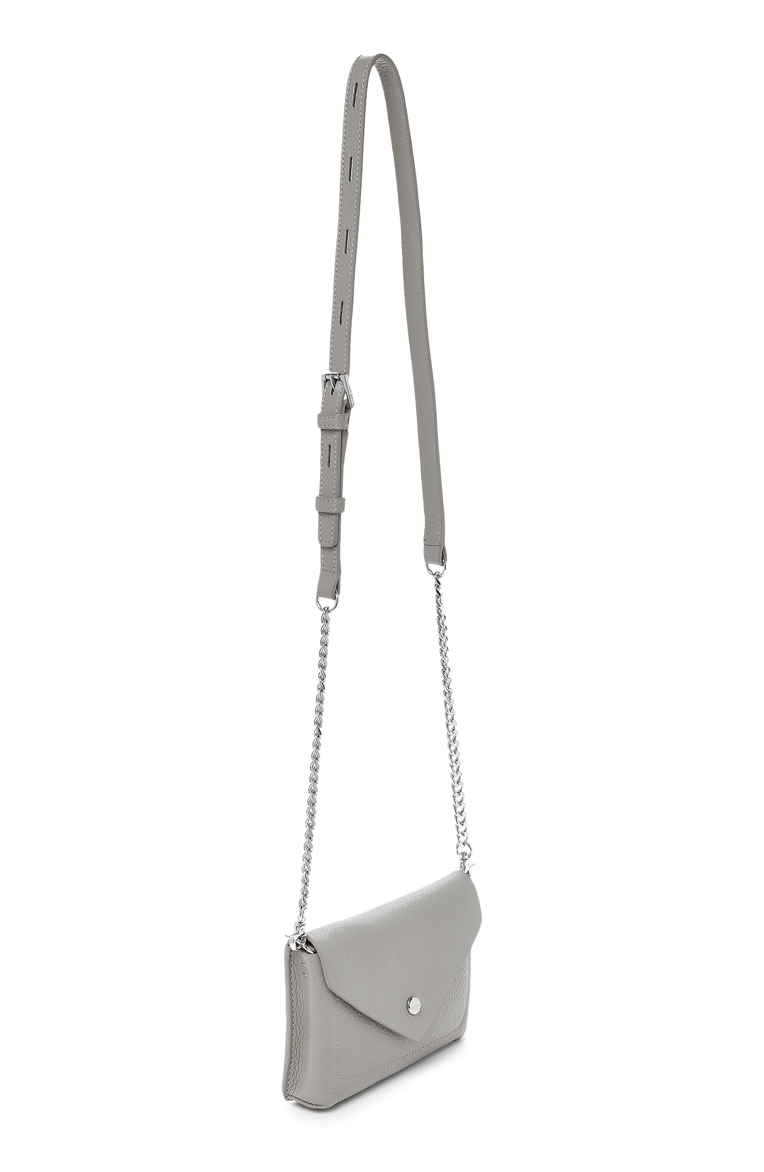 BOTKIER,                             Vivi Calfskin Leather Belt Bag,                             Alternate thumbnail 4, color,                             SILVER GREY