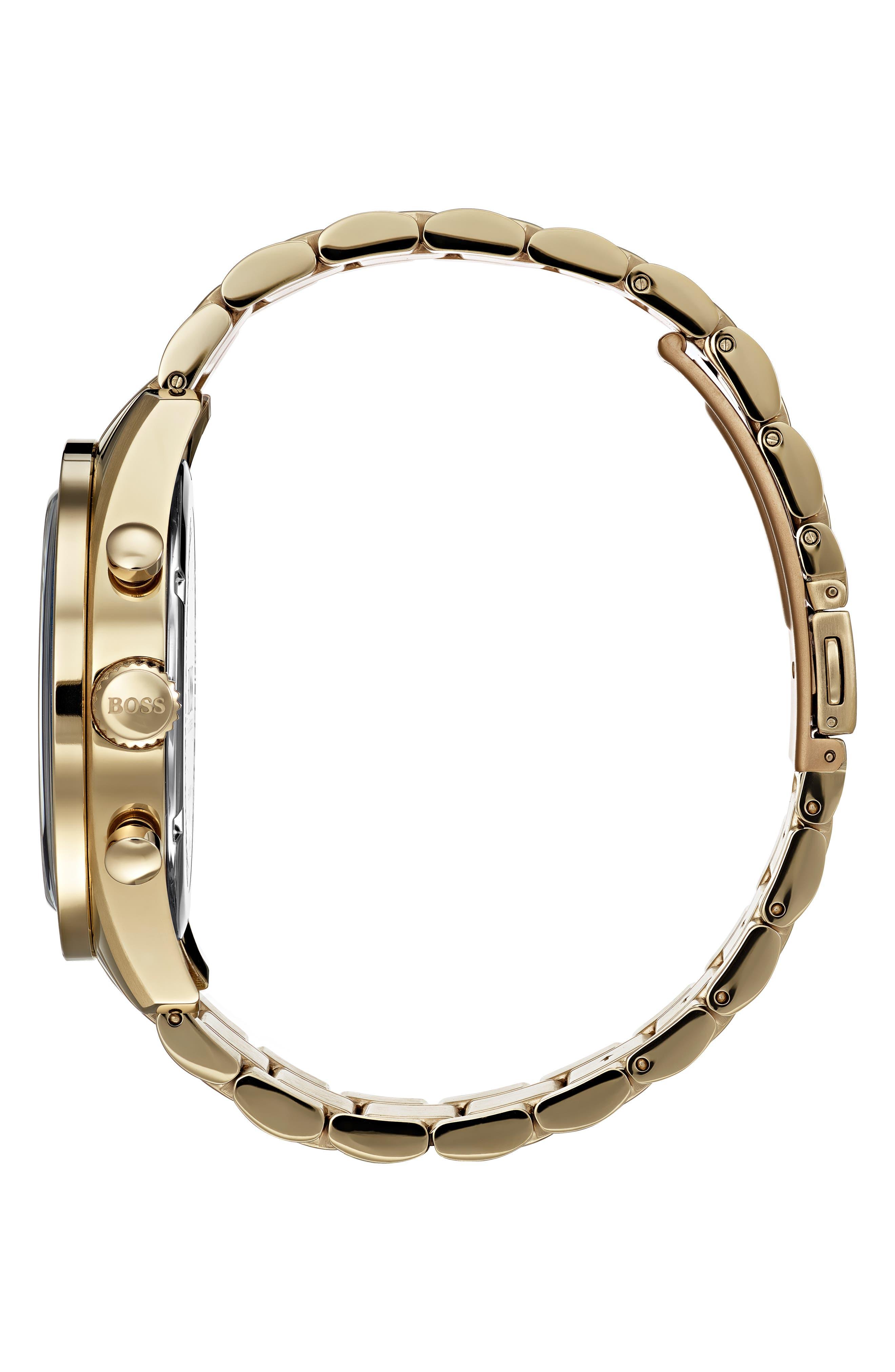 Trophy Chronograph Bracelet Watch, 44mm,                             Alternate thumbnail 3, color,                             SILVER