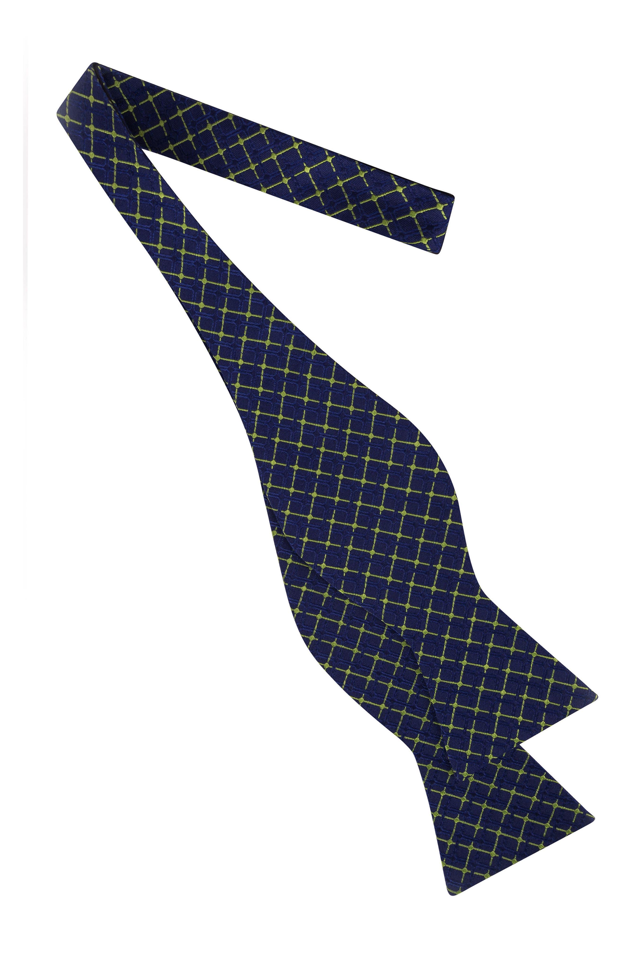 Superb Check Silk Bow Tie,                             Alternate thumbnail 8, color,