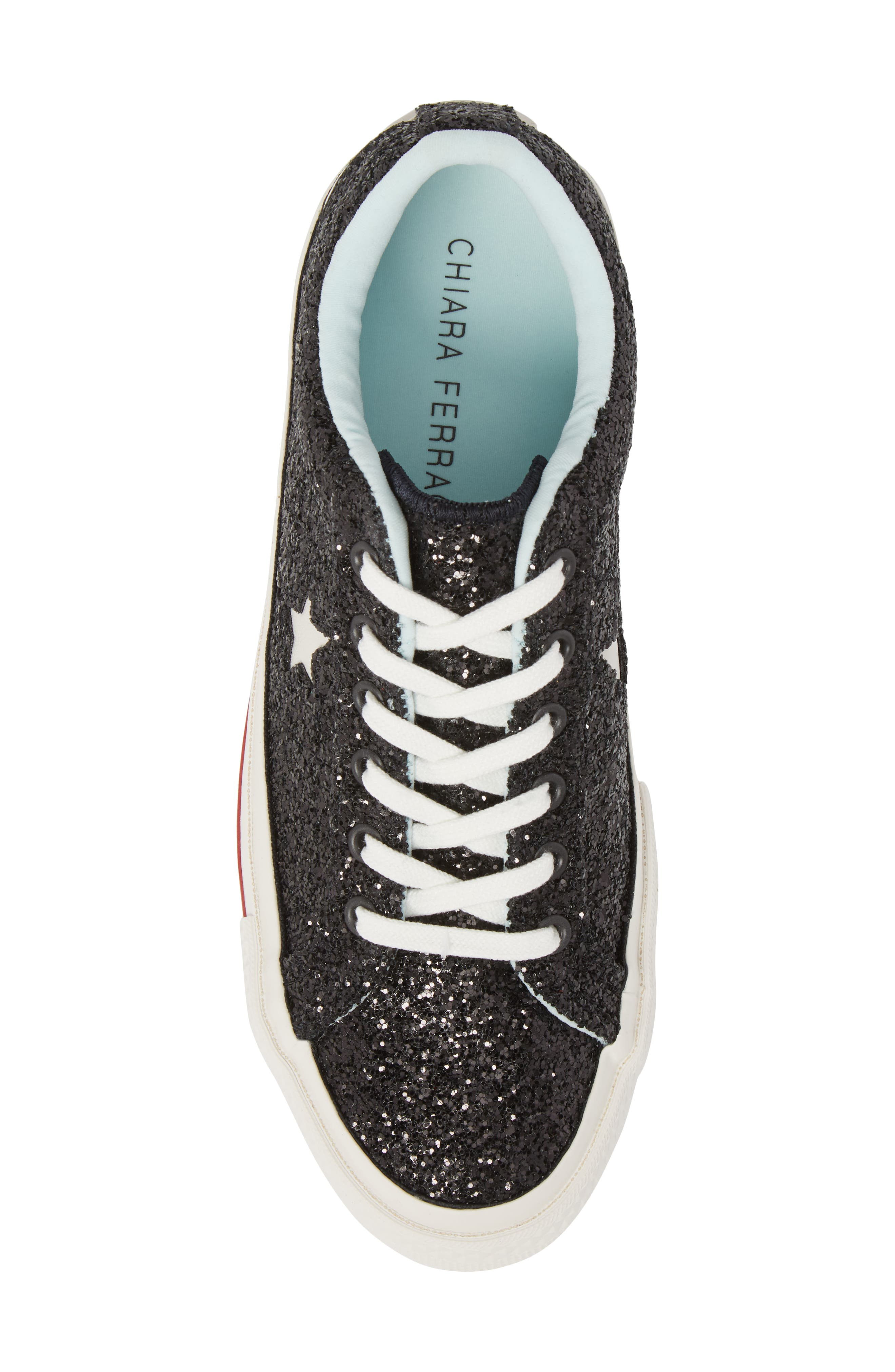 x Chiara Ferragni One Star Ox Sneaker,                             Alternate thumbnail 5, color,                             001