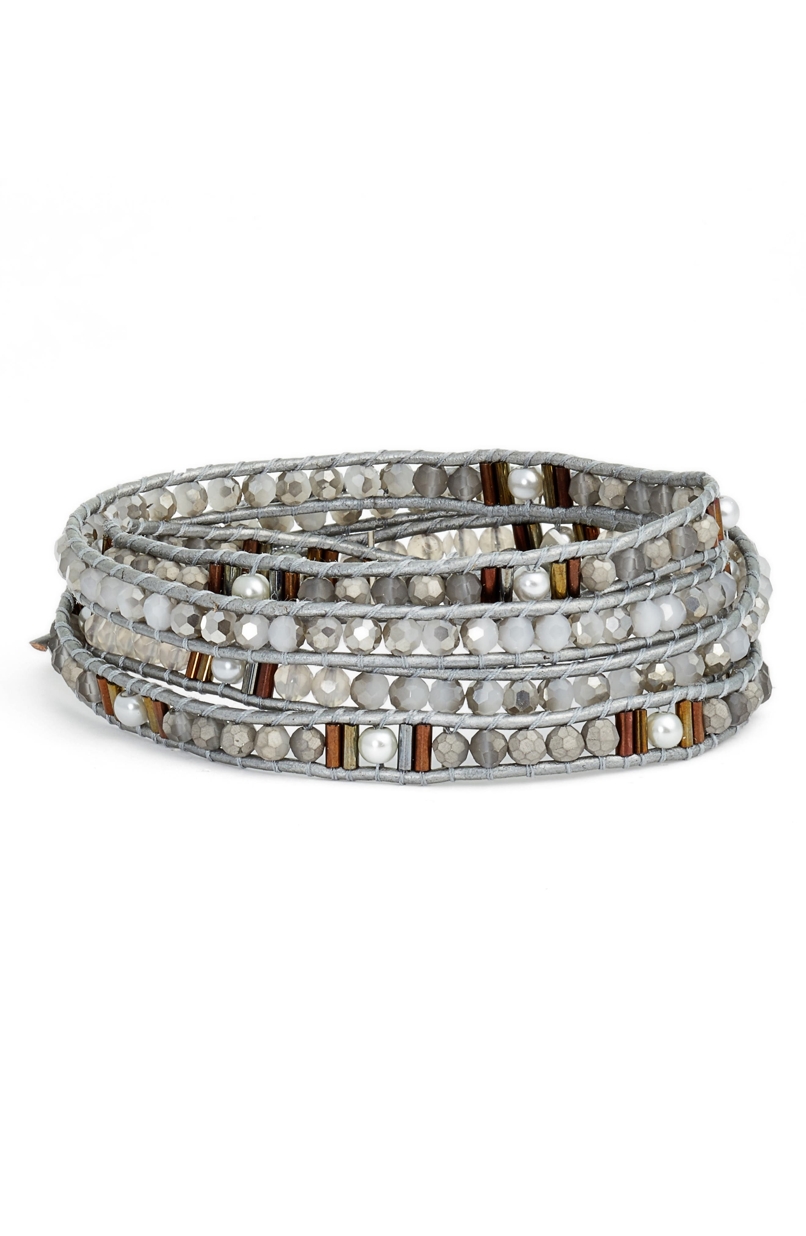 Beaded Wrap Bracelet,                             Main thumbnail 2, color,