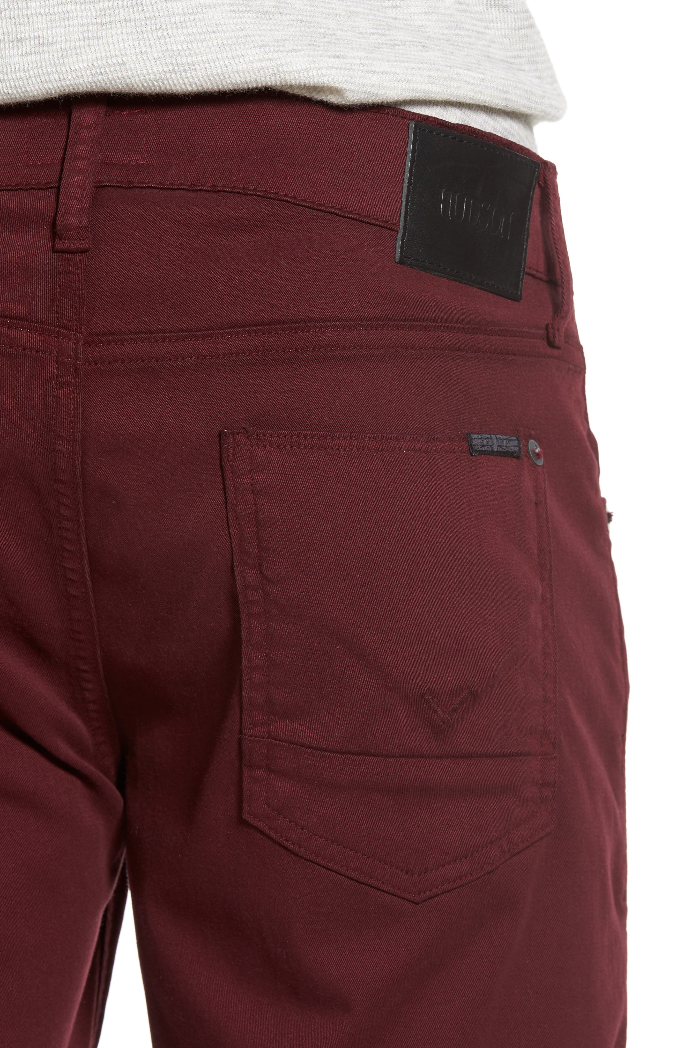 Blake Slim Fit Jeans,                             Alternate thumbnail 4, color,                             BURGUNDY