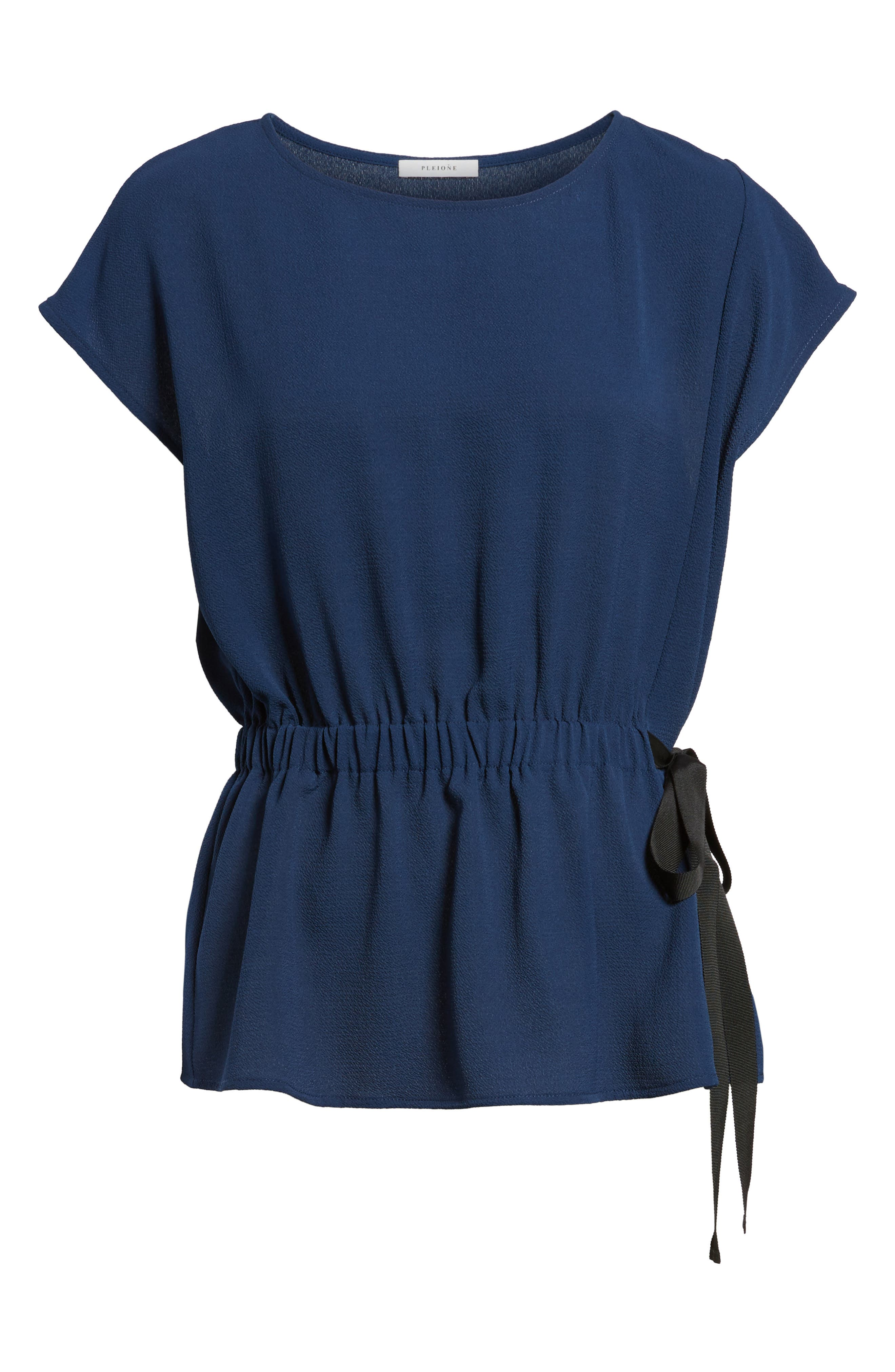 Gathered Waist Side Tie Top,                             Alternate thumbnail 33, color,