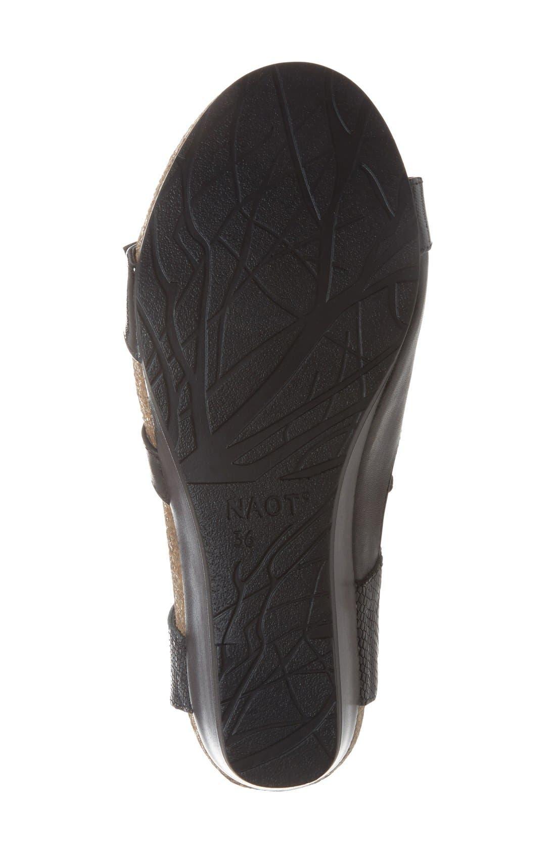'Goddess' Sandal,                             Alternate thumbnail 4, color,                             BLACK LUSTER SNAKE LEATHER