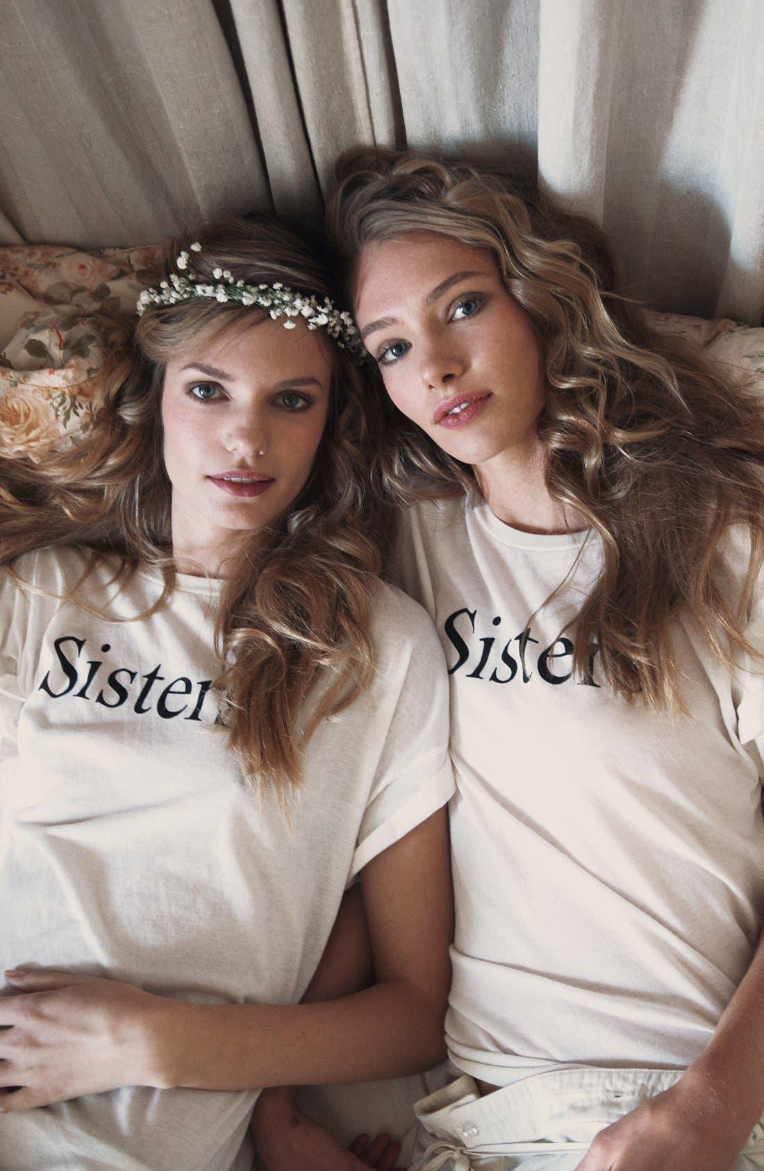'Sisters' Tee,                             Alternate thumbnail 5, color,                             900