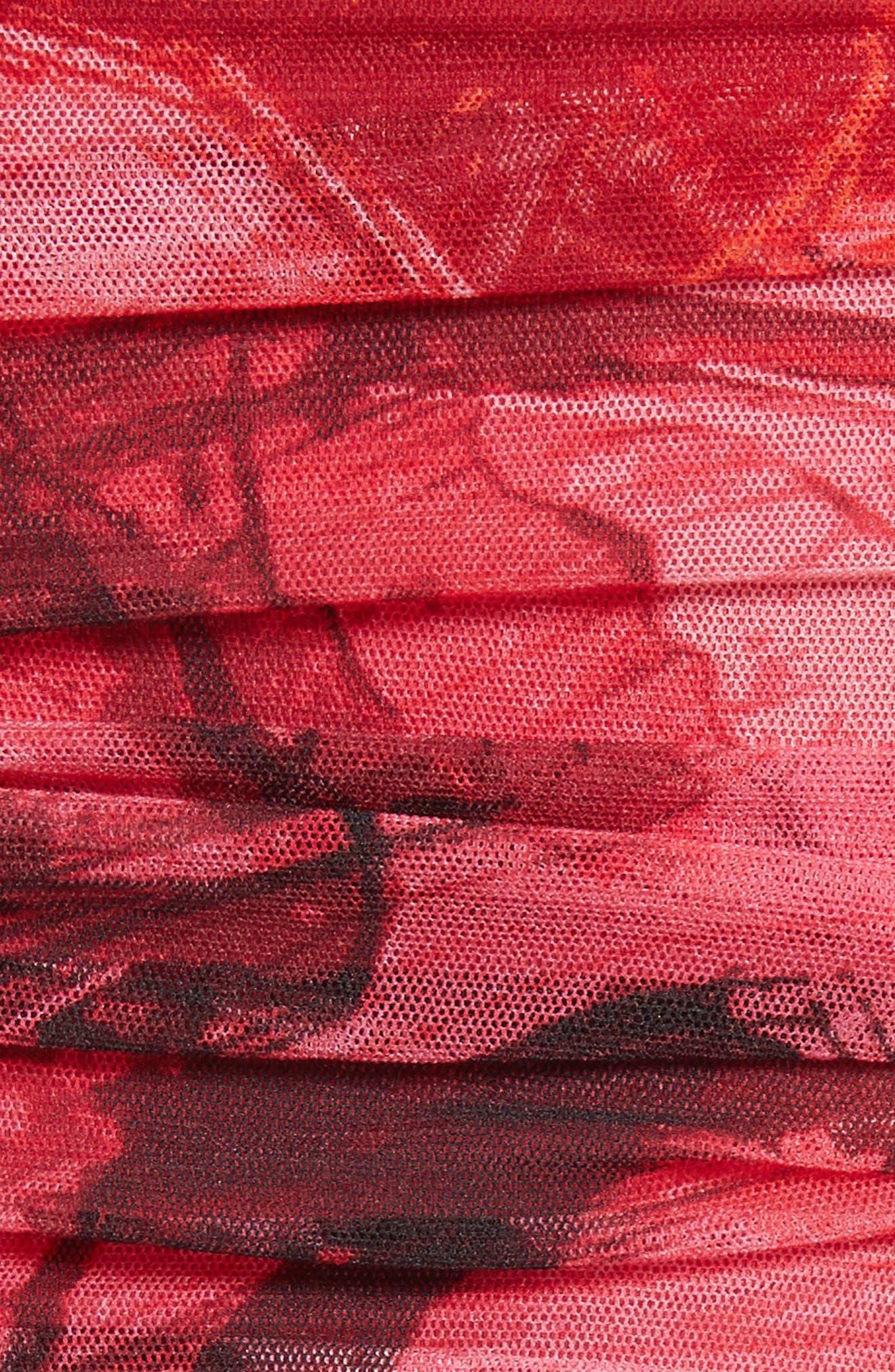Print Tulle Strapless Jumpsuit,                             Alternate thumbnail 5, color,                             691
