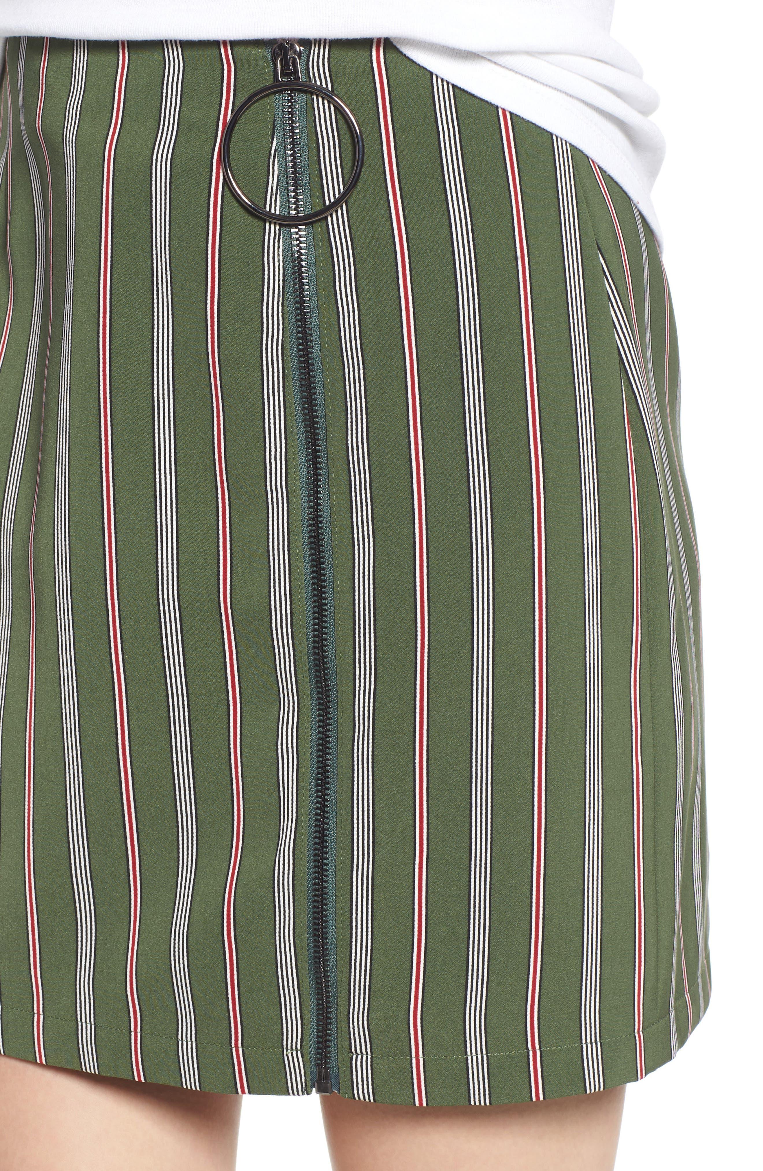 Axial Stripe Miniskirt,                             Alternate thumbnail 4, color,                             300
