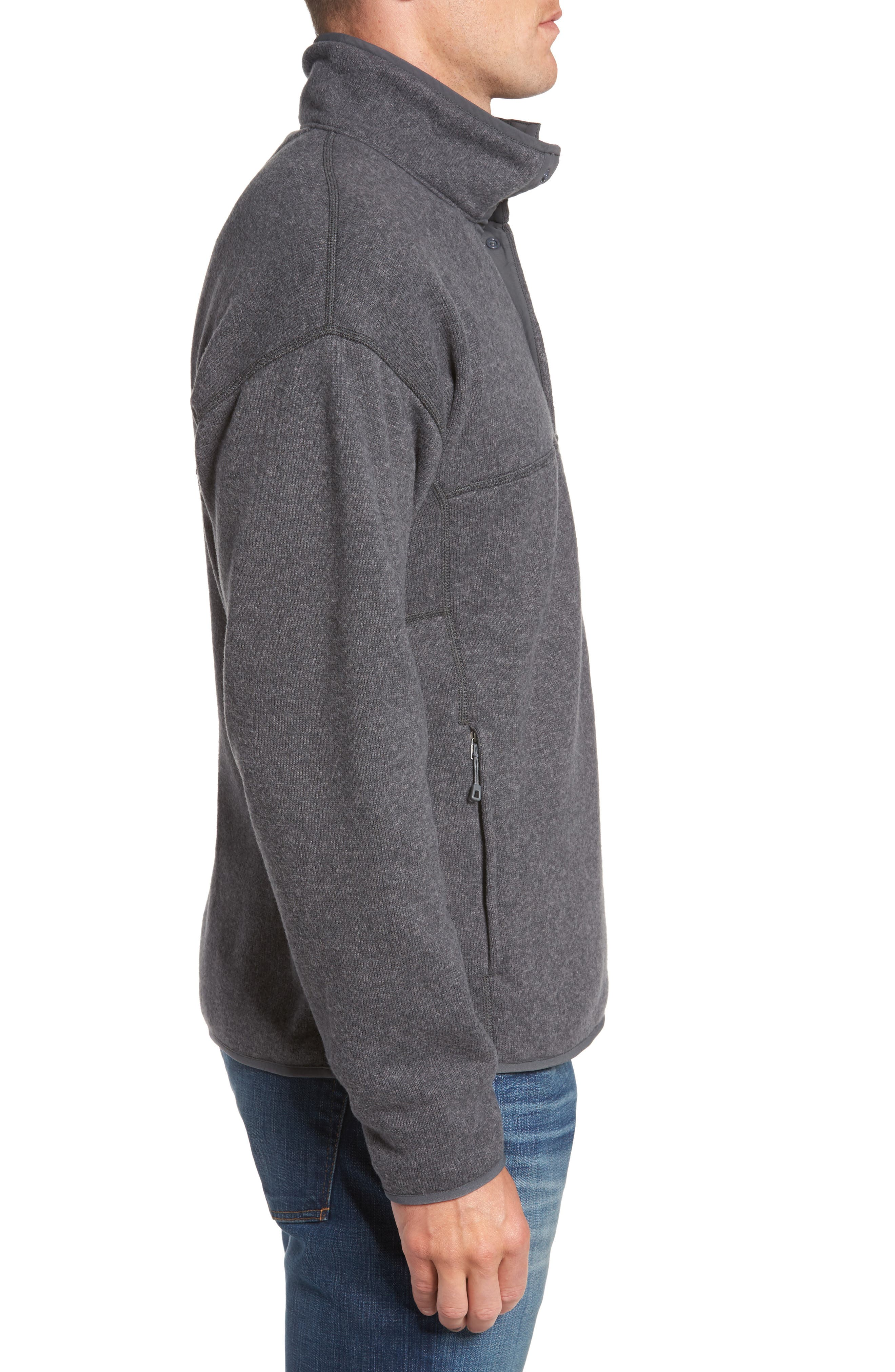 Lightweight Better Sweater Pullover,                             Alternate thumbnail 3, color,                             FORGE GREY