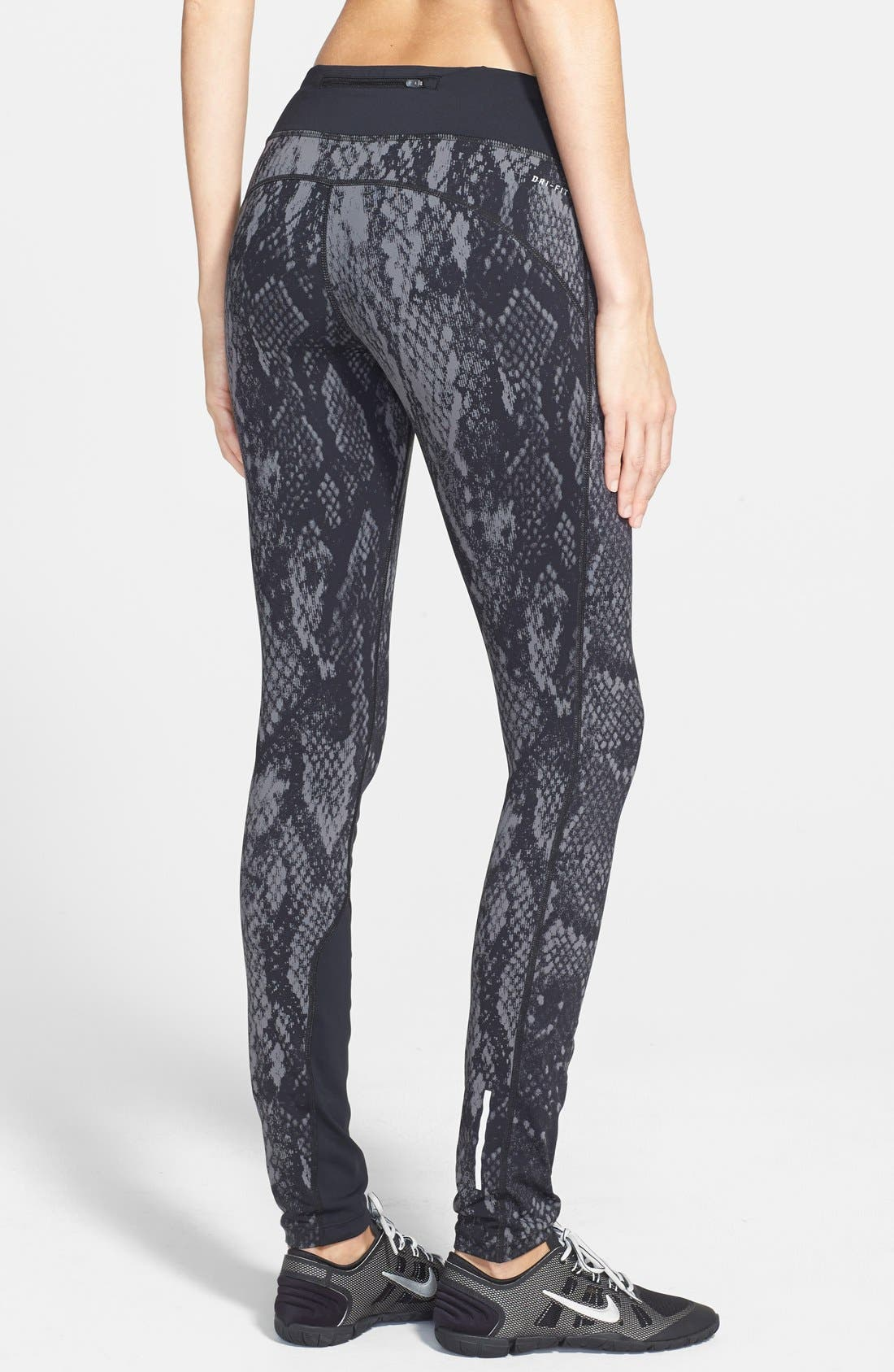 'Epic Lux' Snakeskin Print Running Tights,                             Alternate thumbnail 11, color,