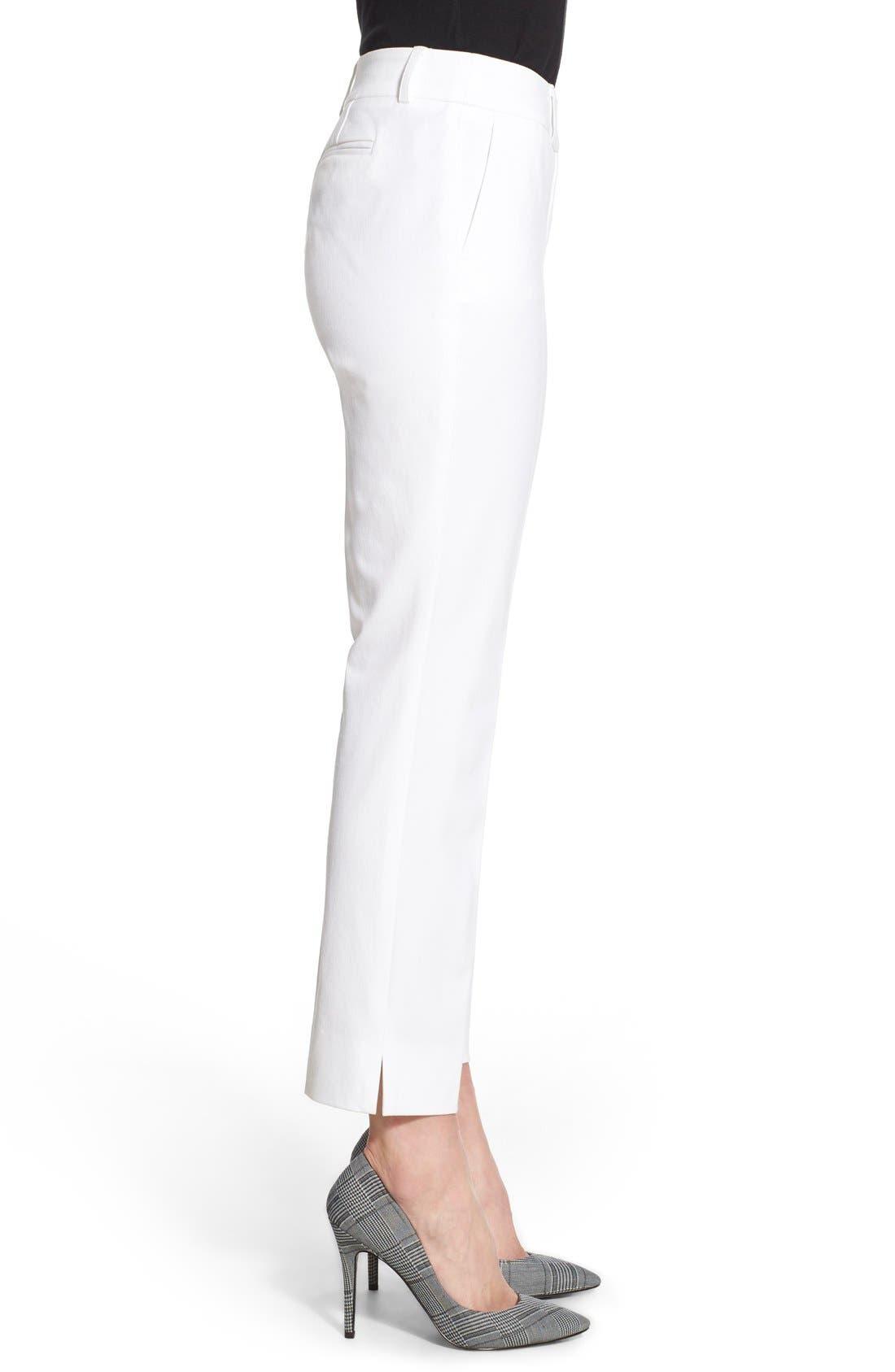 Crop Stretch Cotton Pants,                             Alternate thumbnail 72, color,