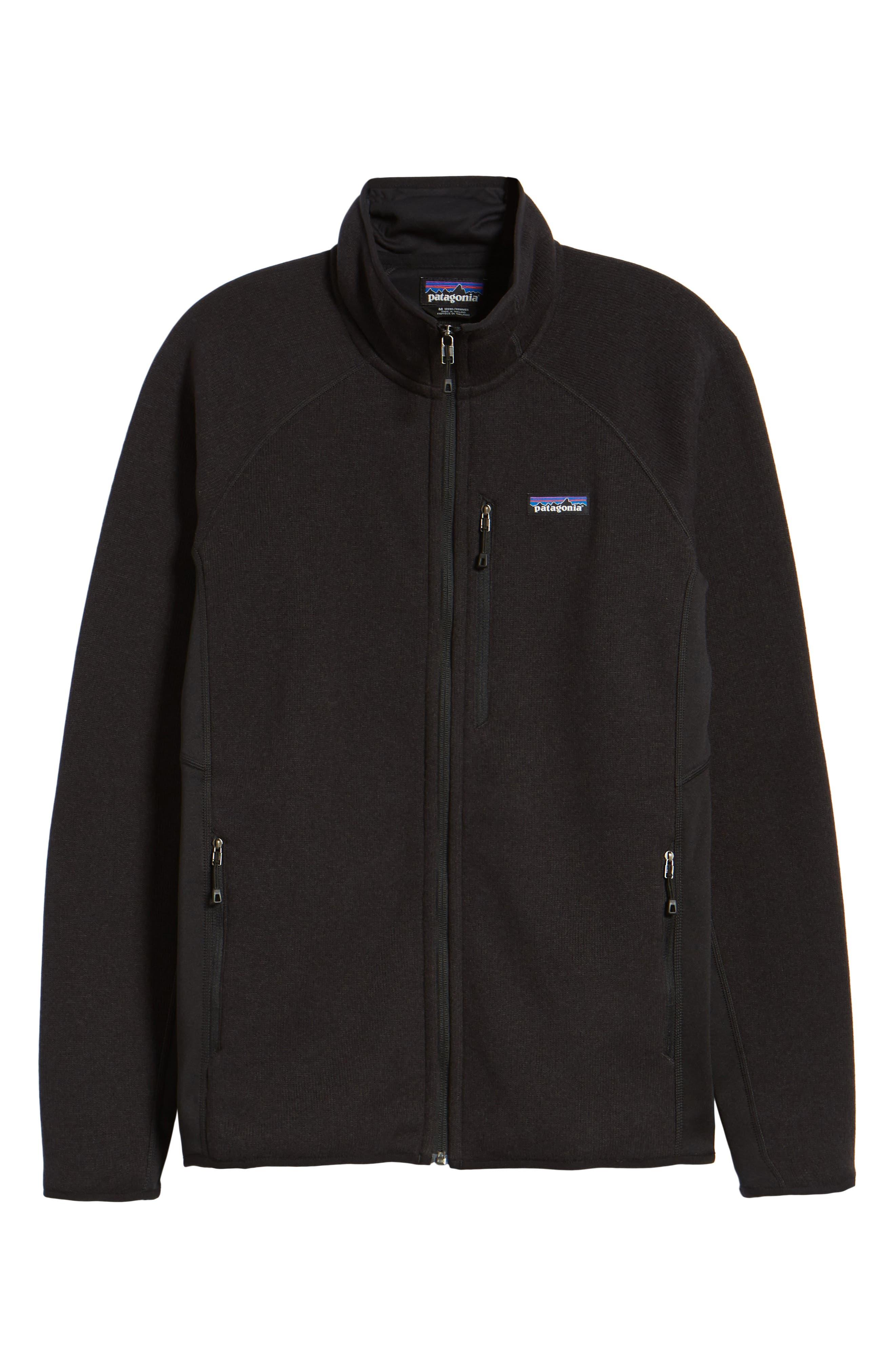 Better Sweater<sup>®</sup> Performance Slim Fit Zip Jacket,                             Alternate thumbnail 6, color,                             BLK