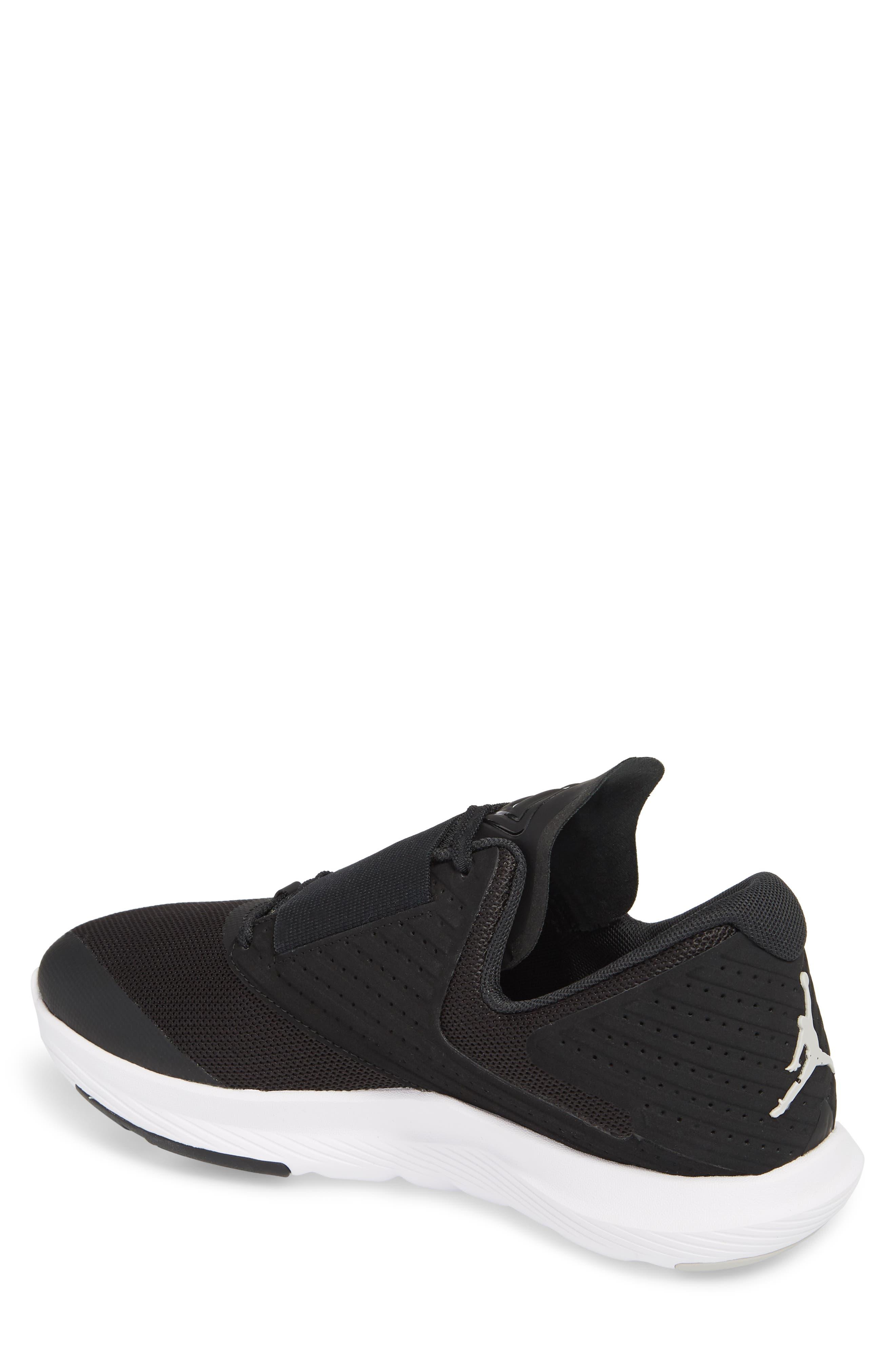 Air Jordan Relentless Training Sneaker,                             Alternate thumbnail 2, color,                             BLACK/ TECH GREY/ WHITE
