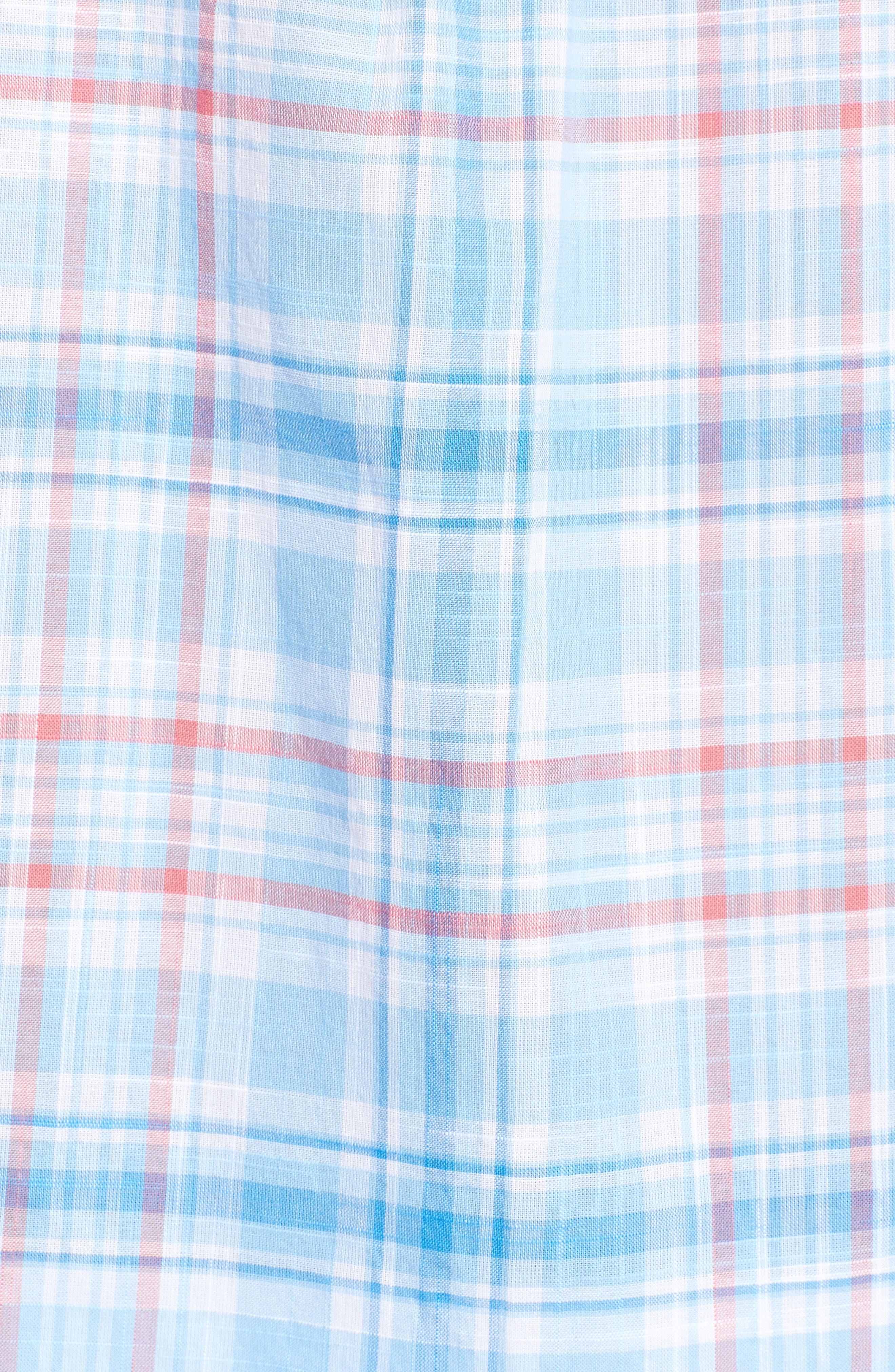 Fire Road Tucker Slim Fit Plaid Sport Shirt,                             Alternate thumbnail 5, color,                             484