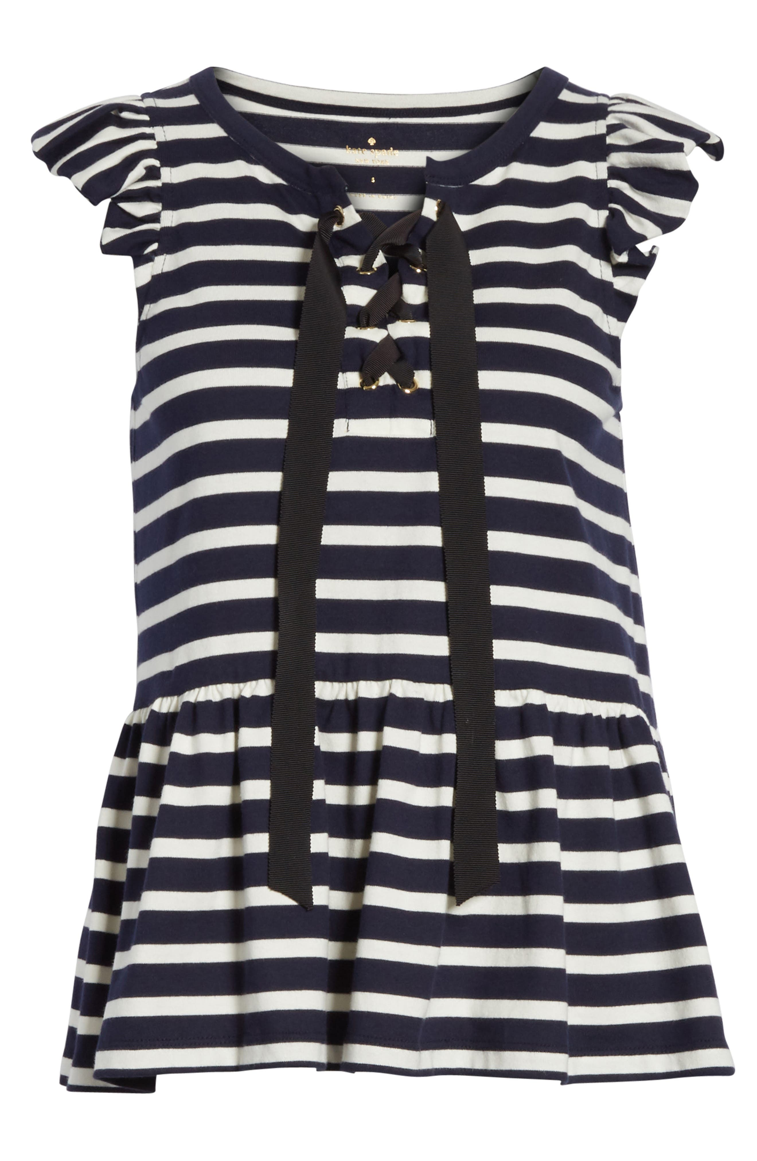 lace-up stripe tee,                             Alternate thumbnail 6, color,