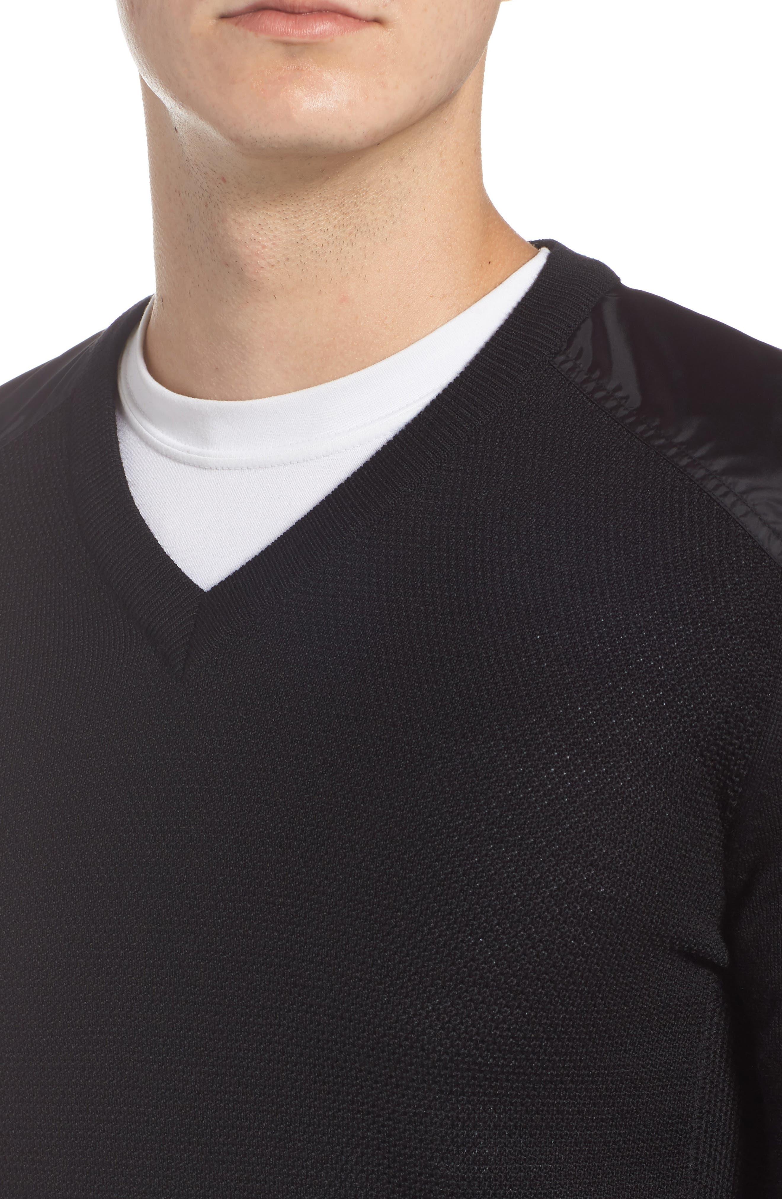 McLeod V-Neck Regular Fit Merino Wool Sweater,                             Alternate thumbnail 4, color,                             BLACK