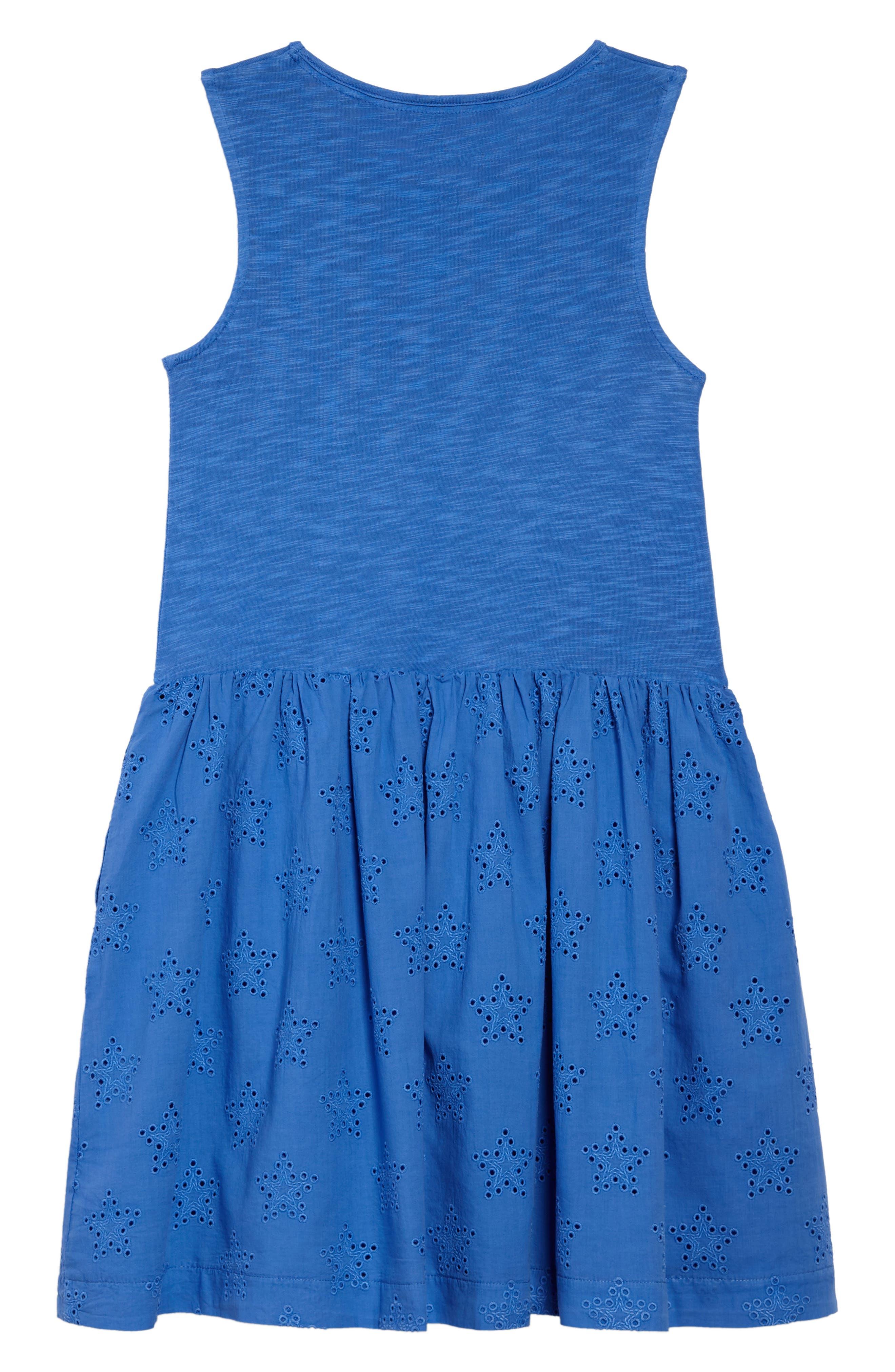 MINI BODEN,                             Eyelet Dress,                             Alternate thumbnail 2, color,                             424