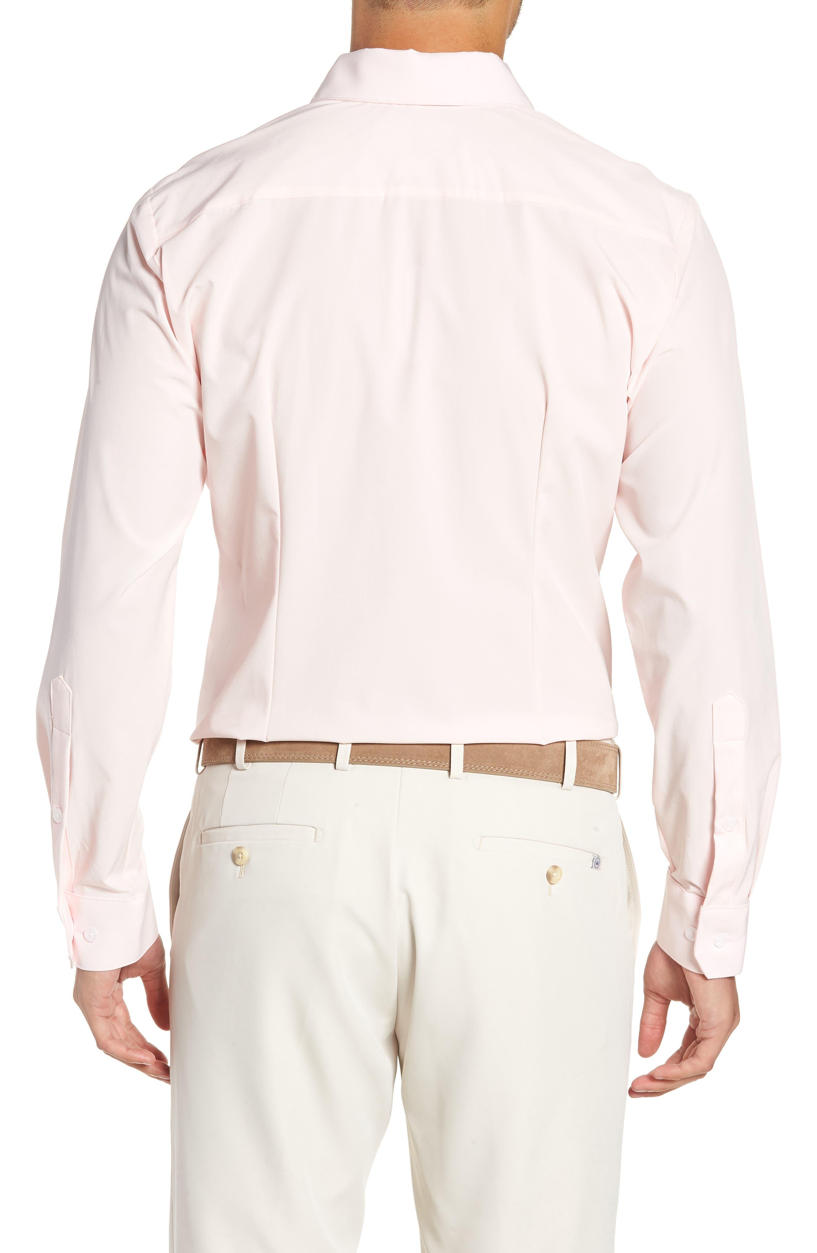 Buchanan Regular Fit Sport Shirt,                             Alternate thumbnail 3, color,                             PINK