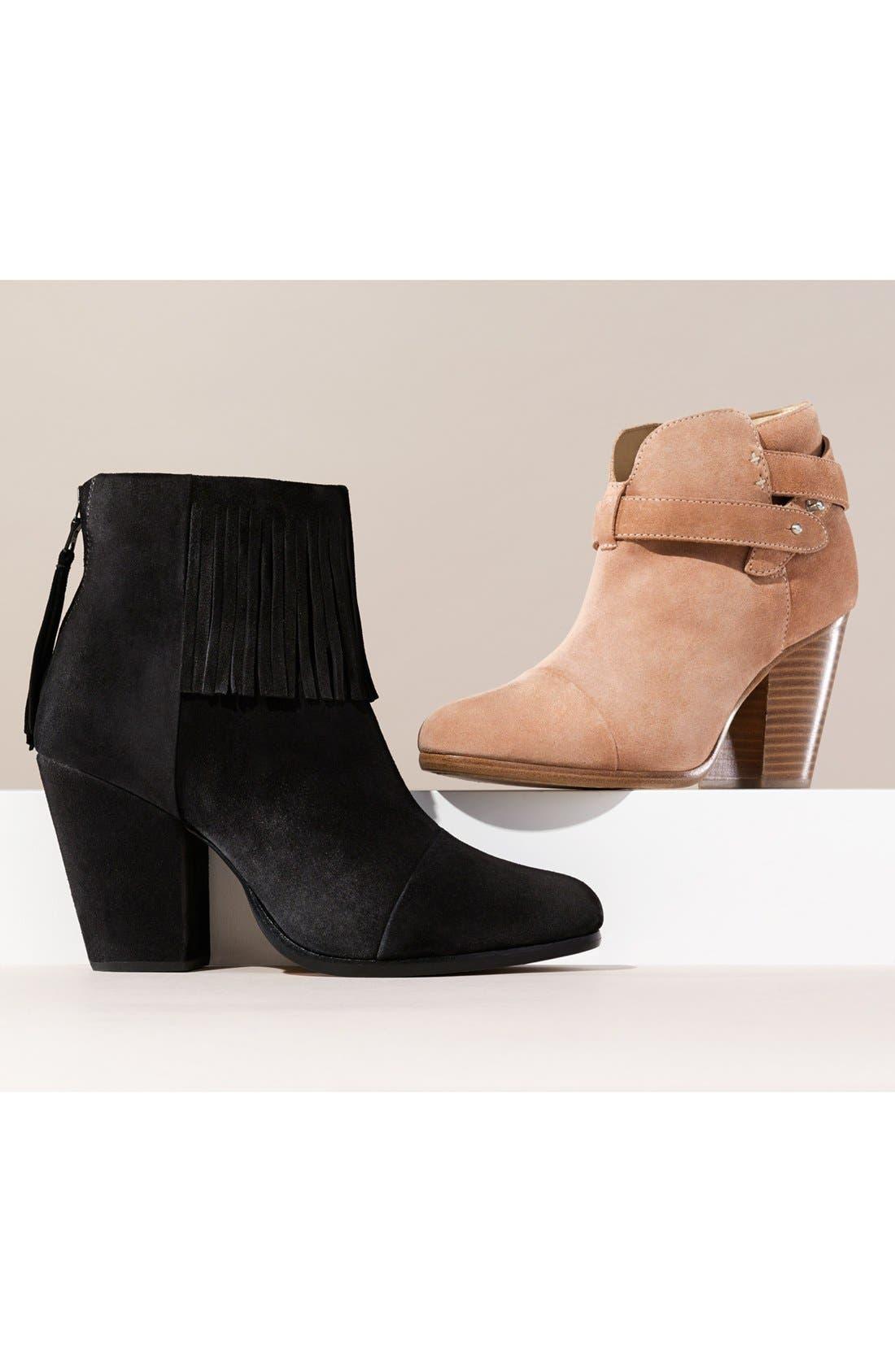 'Harrow' Leather Boot,                             Alternate thumbnail 9, color,                             BLACK