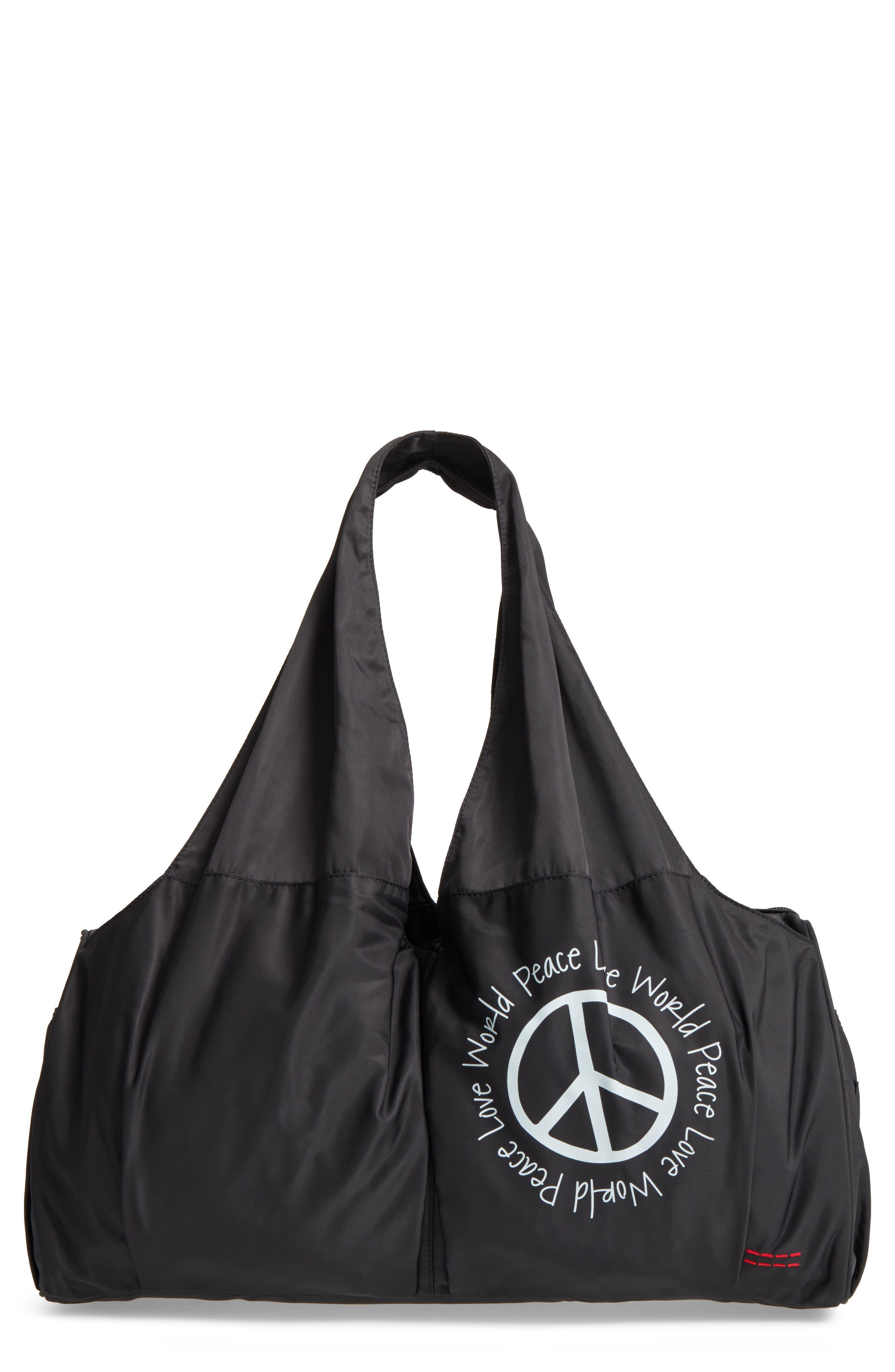 Nylon Duffel Bag,                         Main,                         color, 001