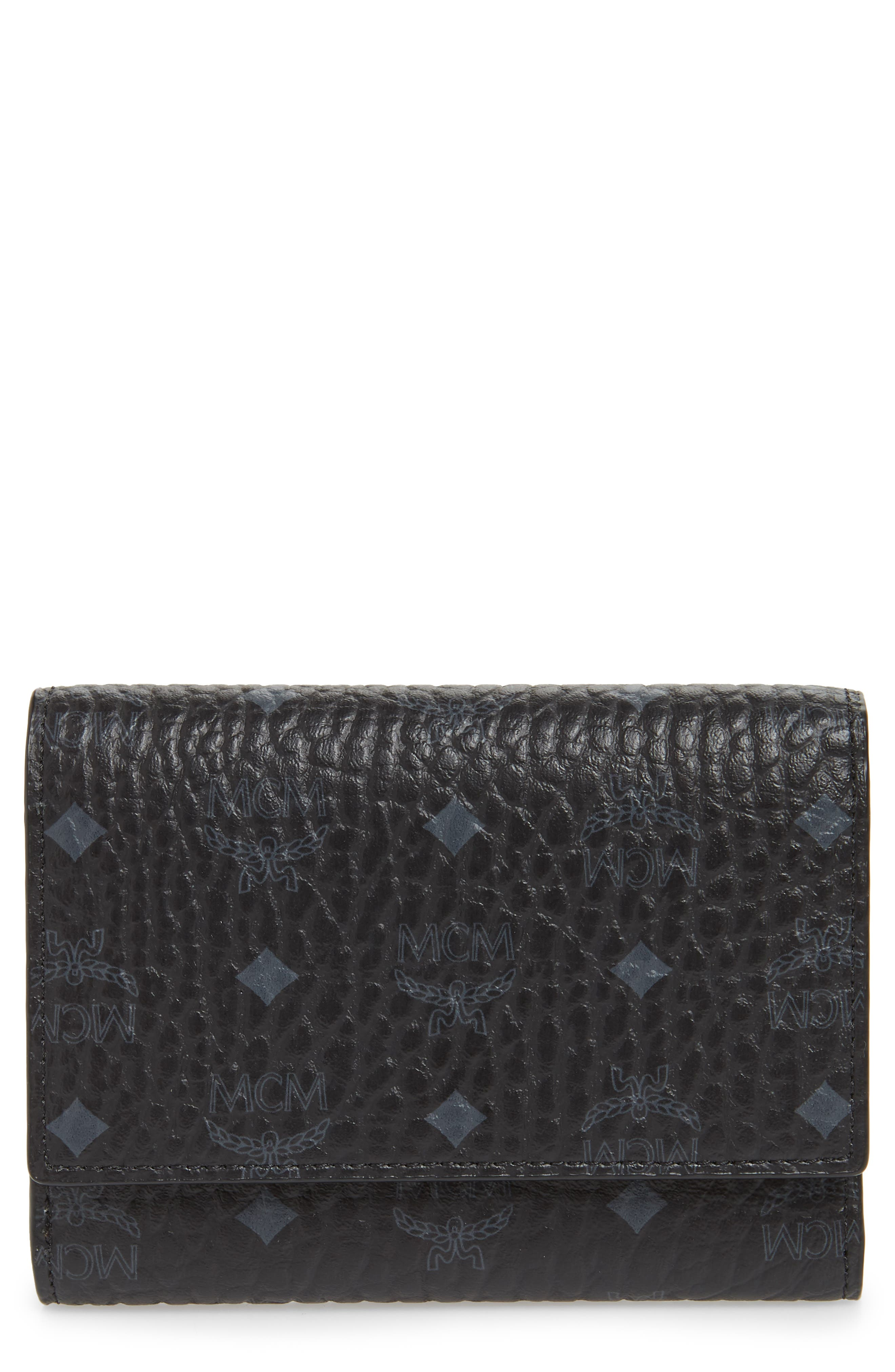 Original Small Visetos Trifold Wallet,                             Main thumbnail 1, color,                             BLACK