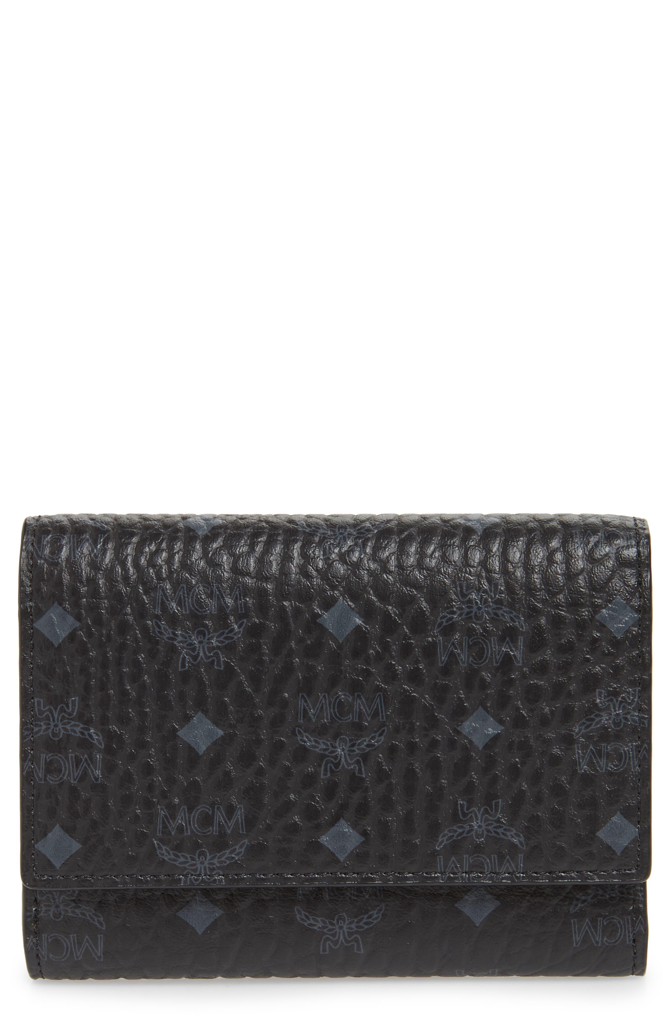 Original Small Visetos Trifold Wallet,                         Main,                         color, BLACK
