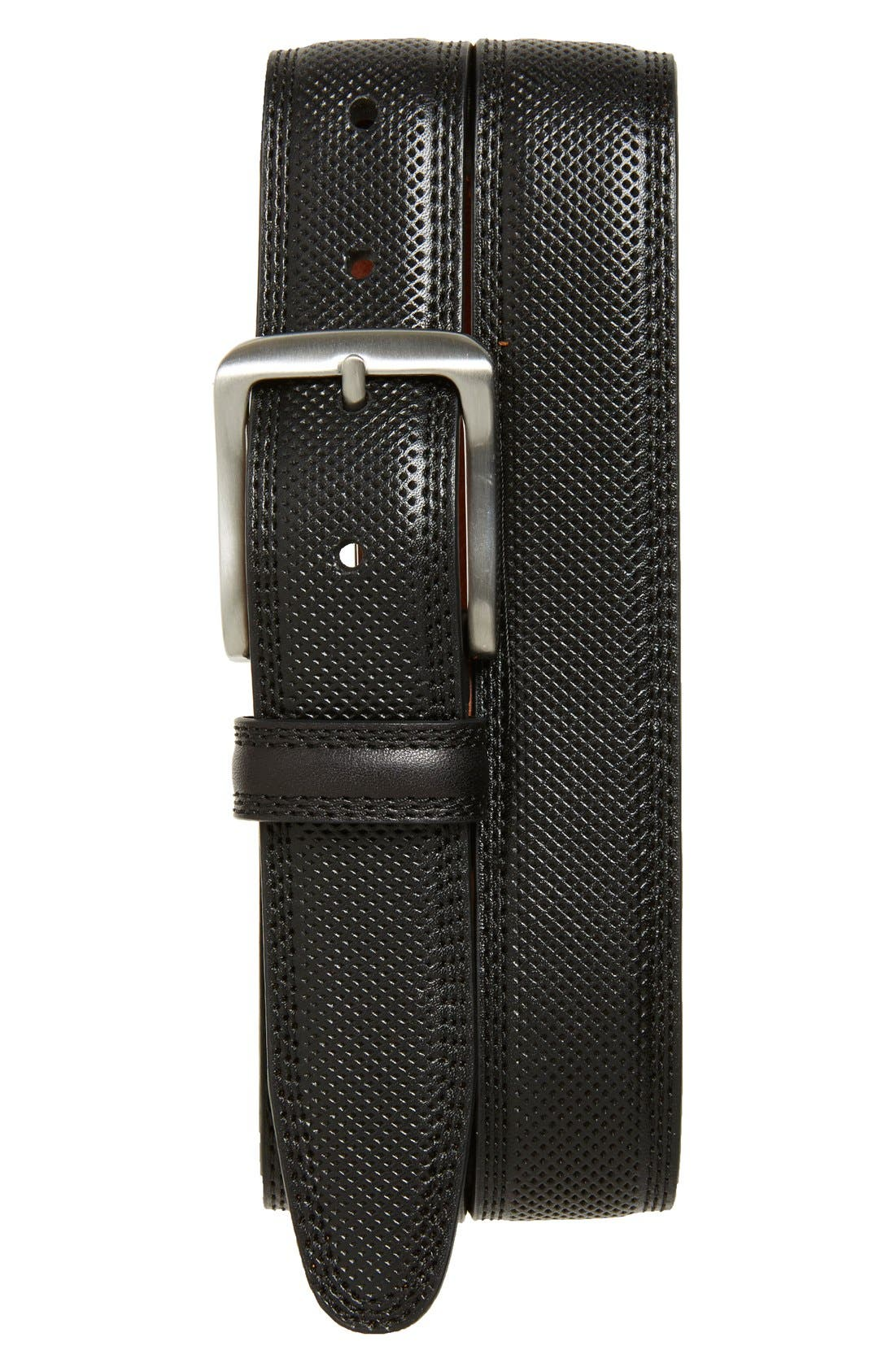 Textured Leather Belt,                             Main thumbnail 2, color,