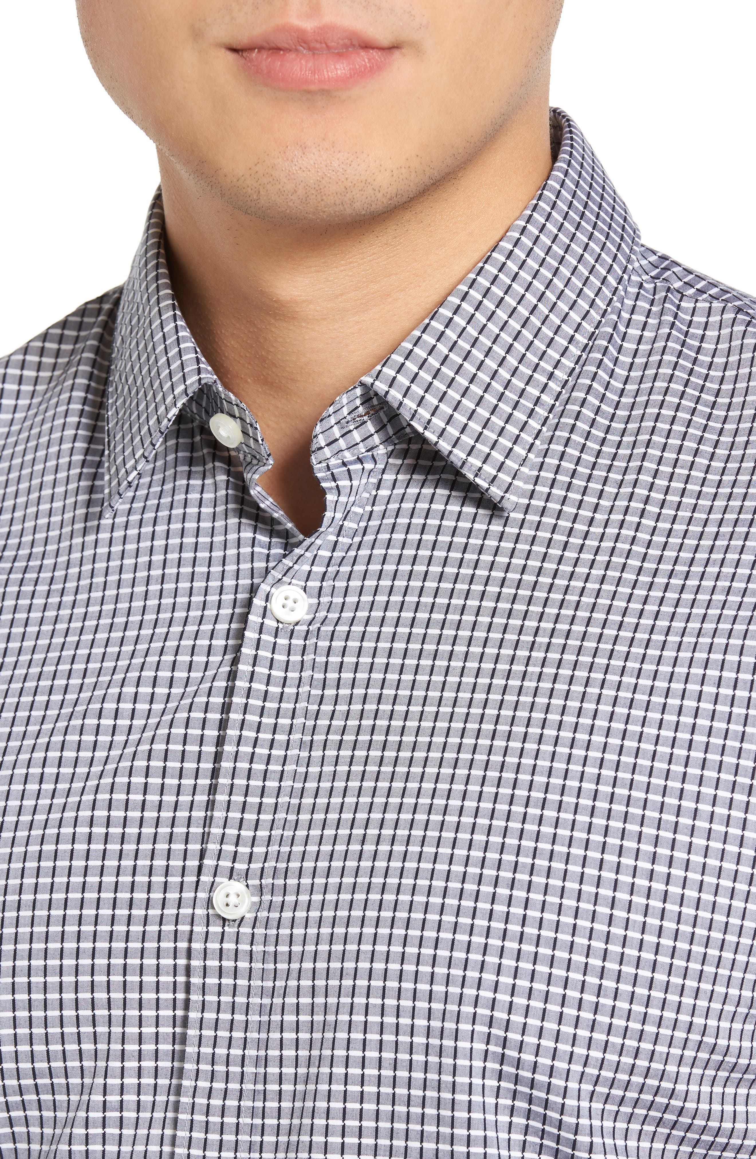 Ronn Check Sport Shirt,                             Alternate thumbnail 4, color,                             402