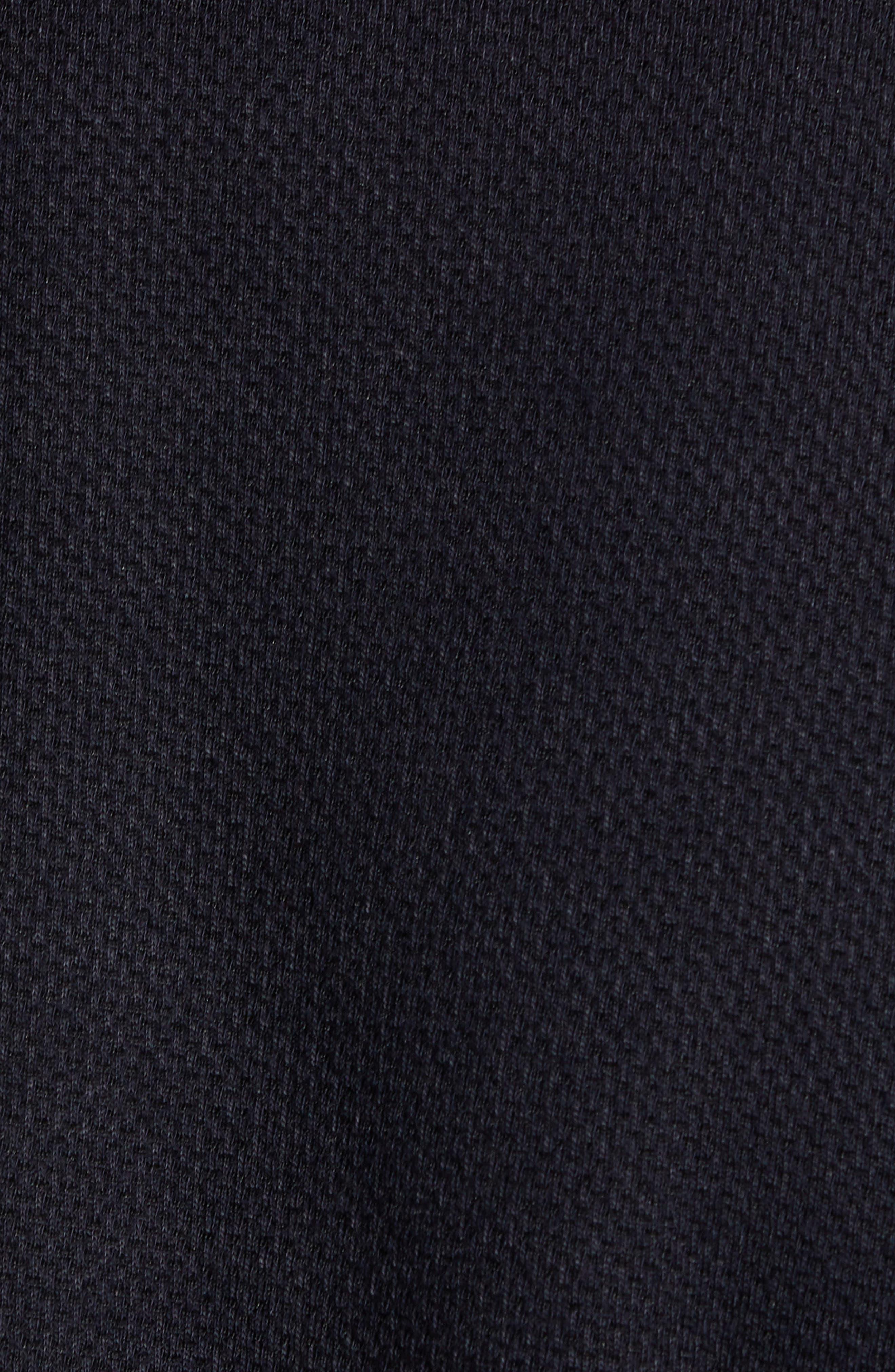 Almond Slim Fit Jersey Blazer,                             Alternate thumbnail 6, color,                             NAVY